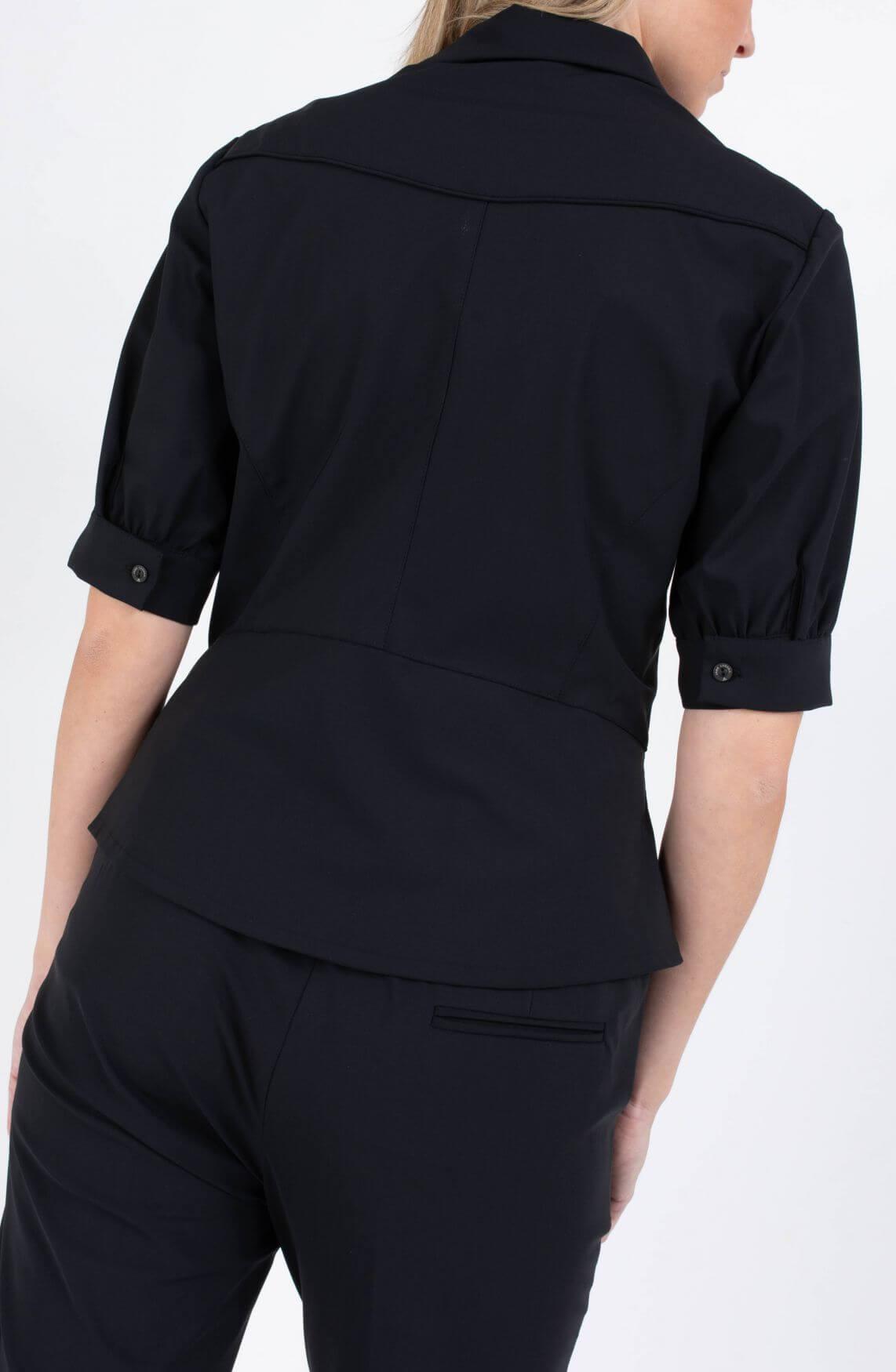 Jane Lushka Dames Susane blouse Zwart