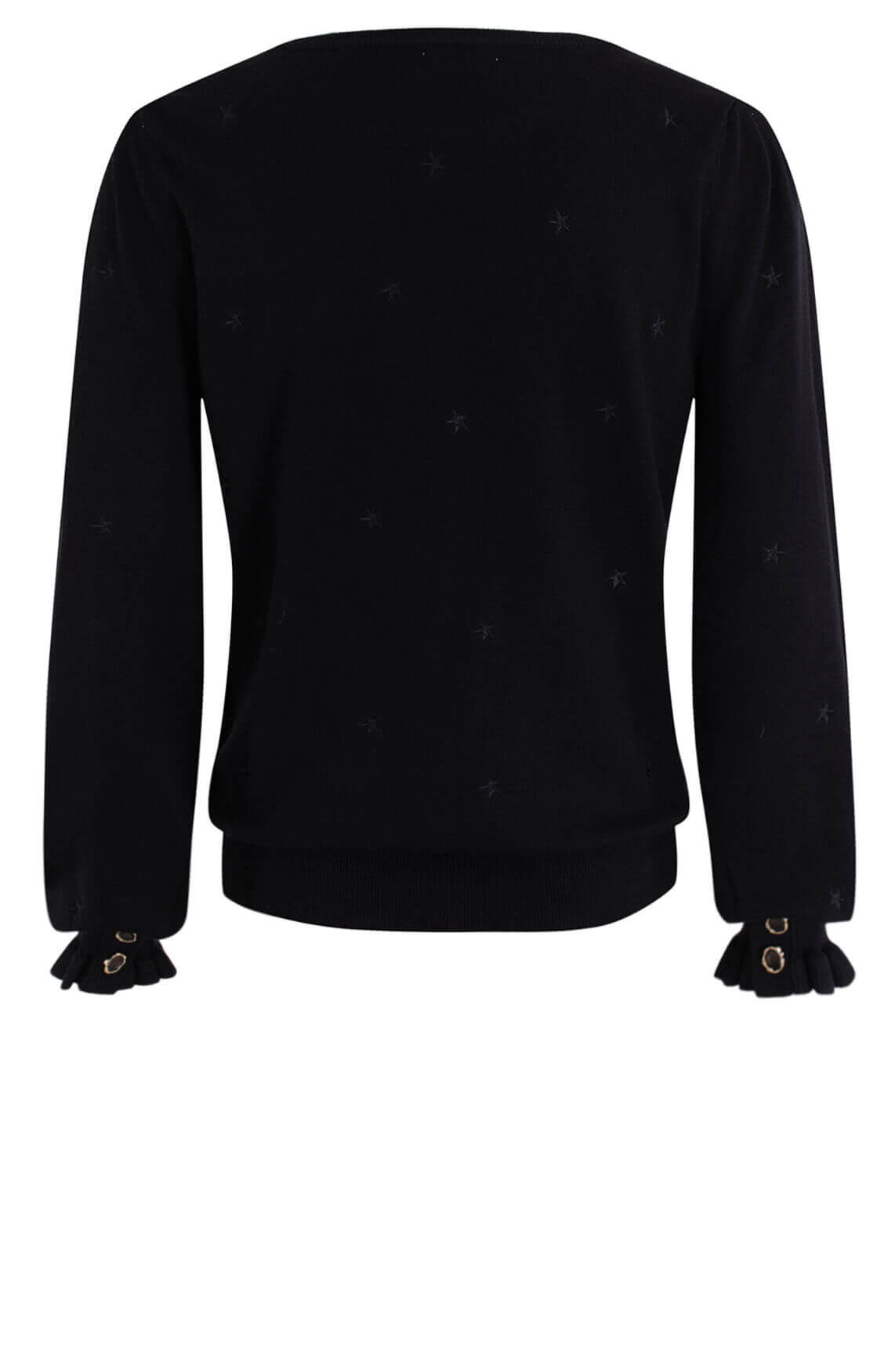 Anna Dames Pullover met knopen Zwart