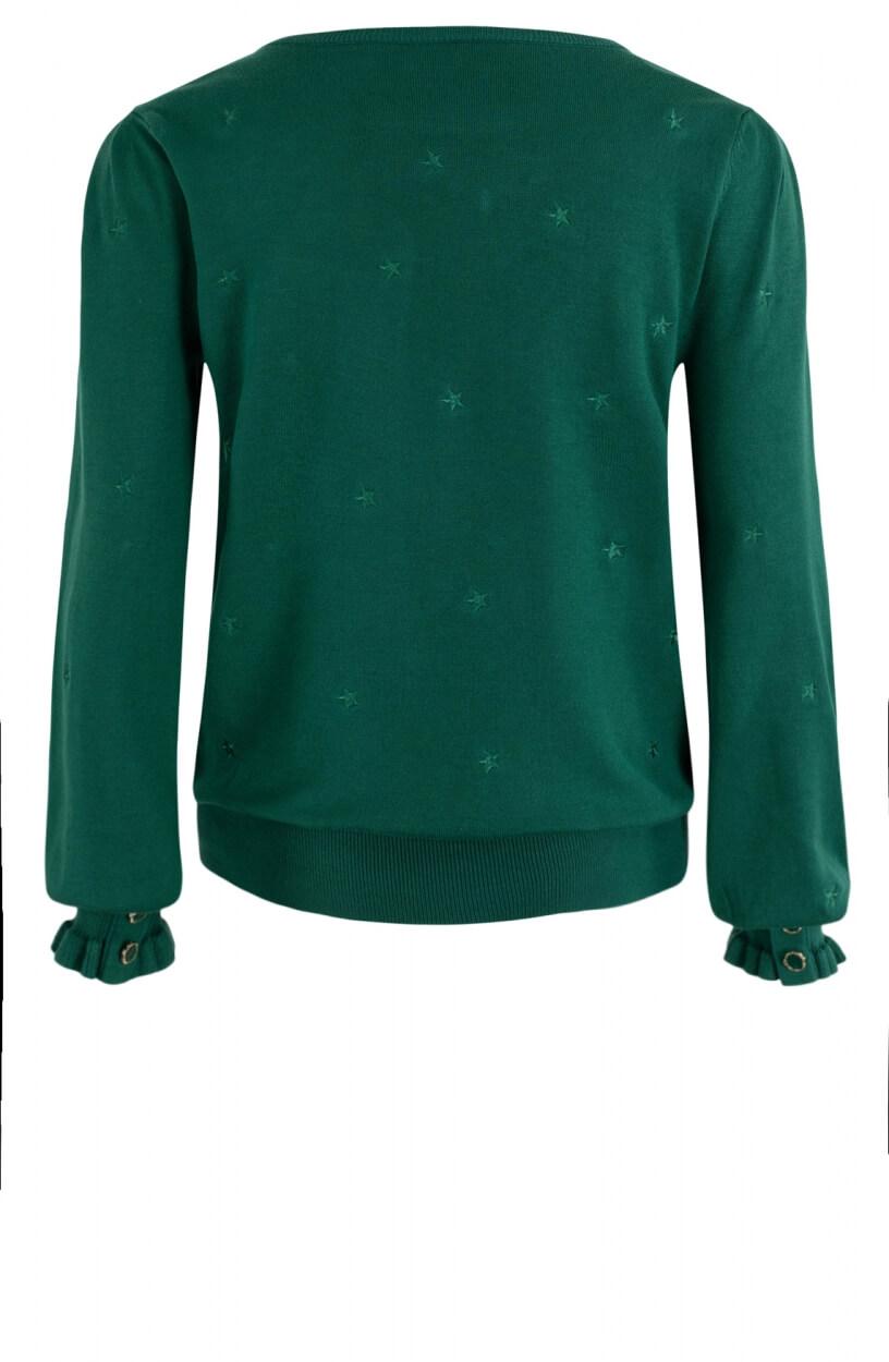 Anna Dames Pullover met knopen Groen