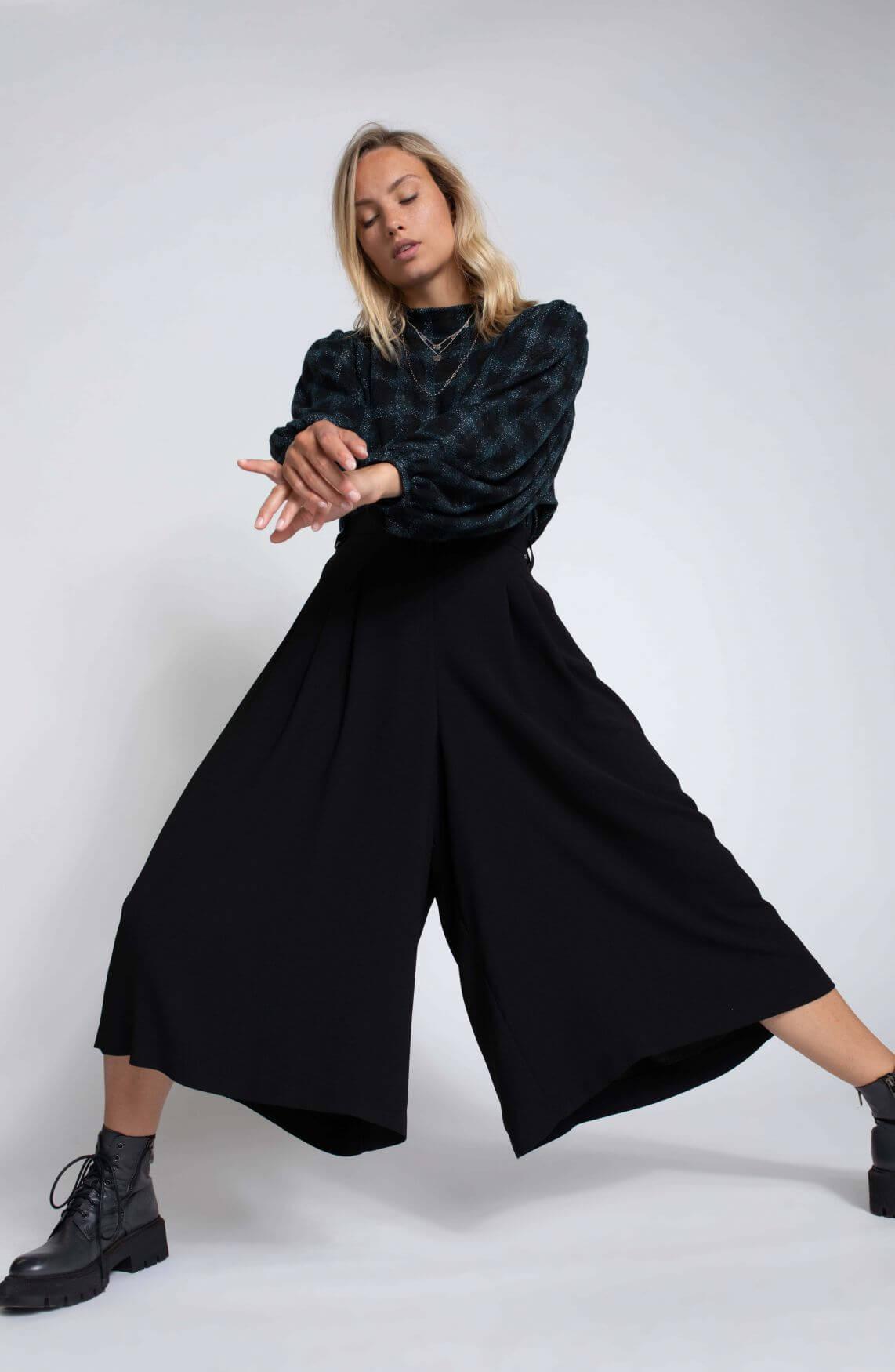 Anna Dames Losse broek Zwart