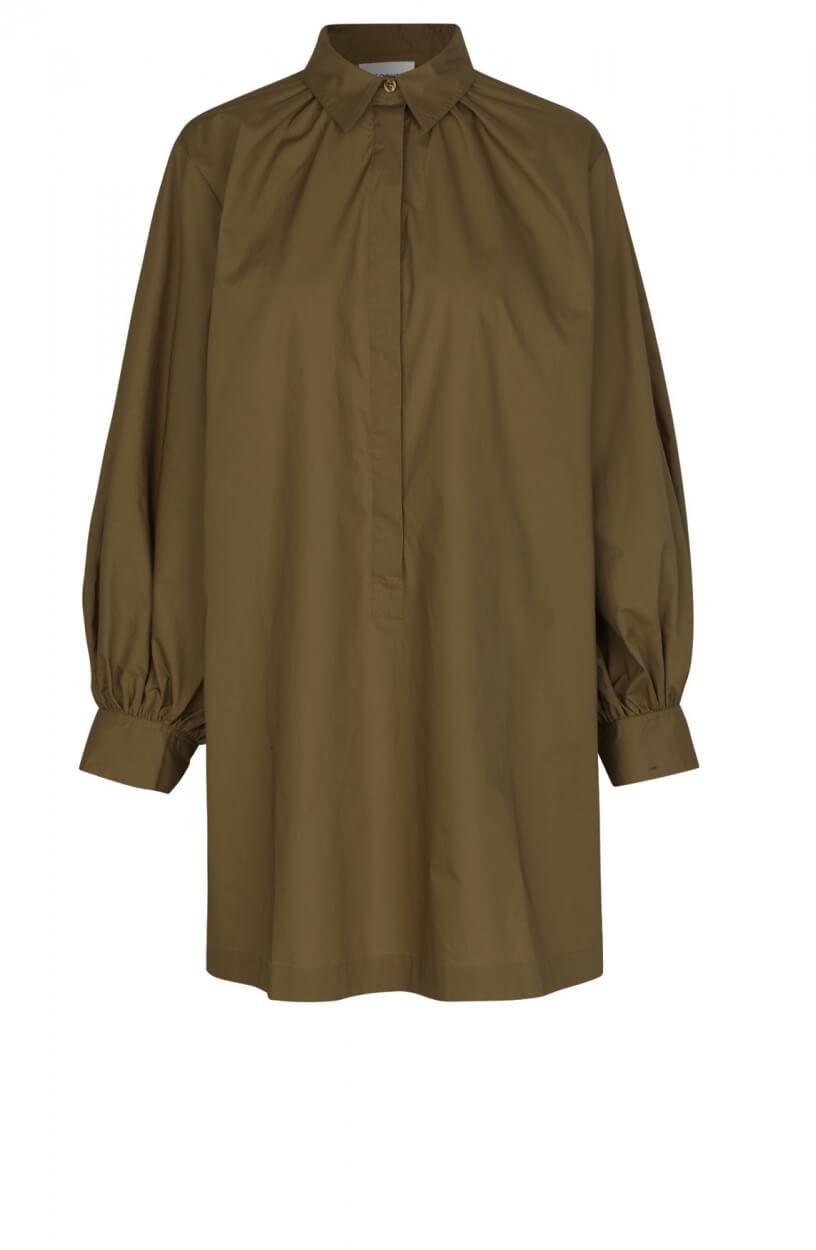 Second Female Dames Totema blousejurk Groen