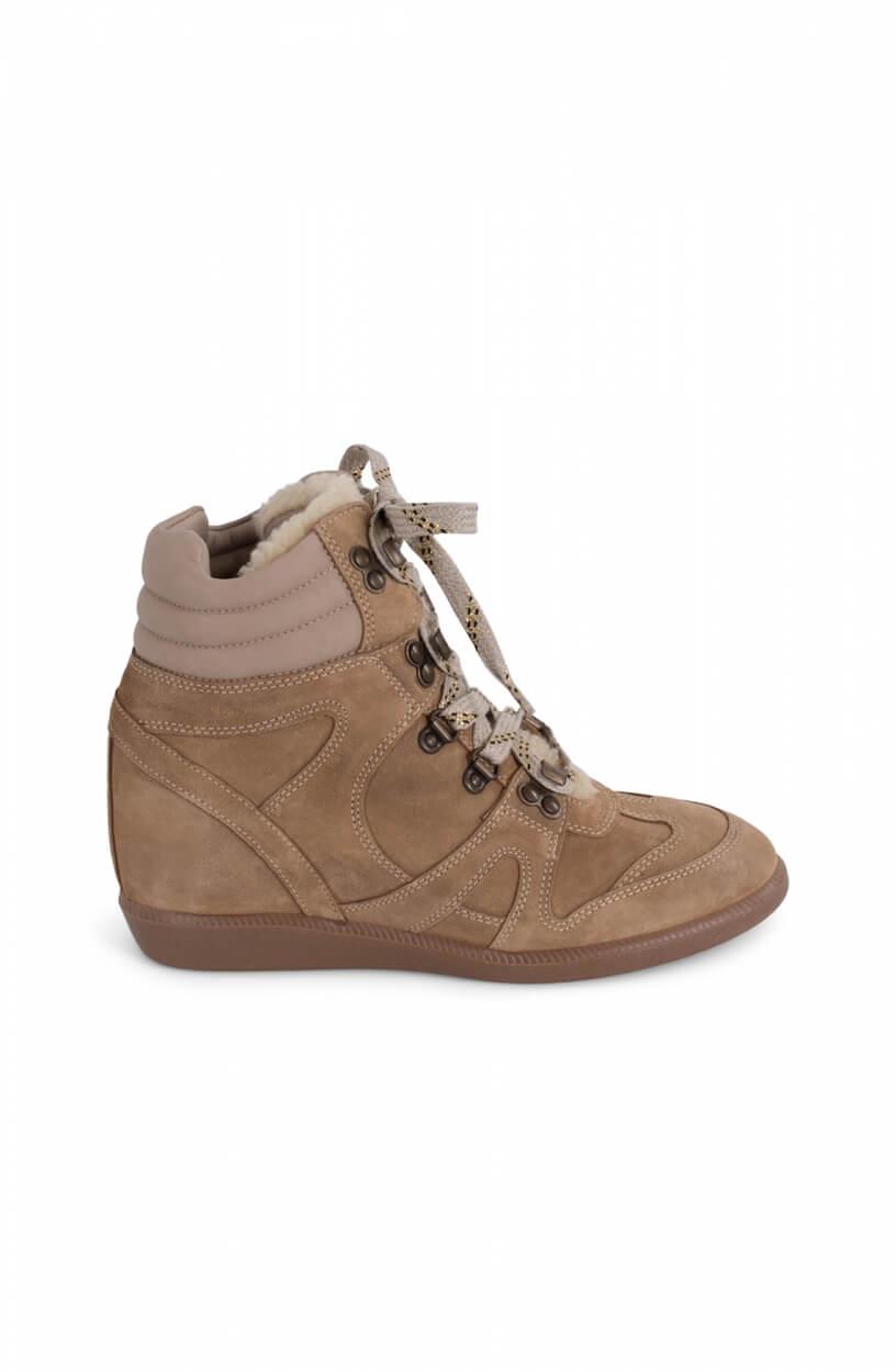 Hip Dames Wedge sneaker Bruin