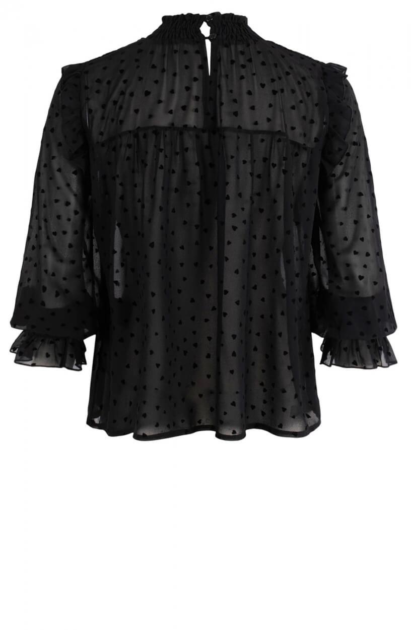La Fee Maraboutee Dames Edmone blouse Zwart
