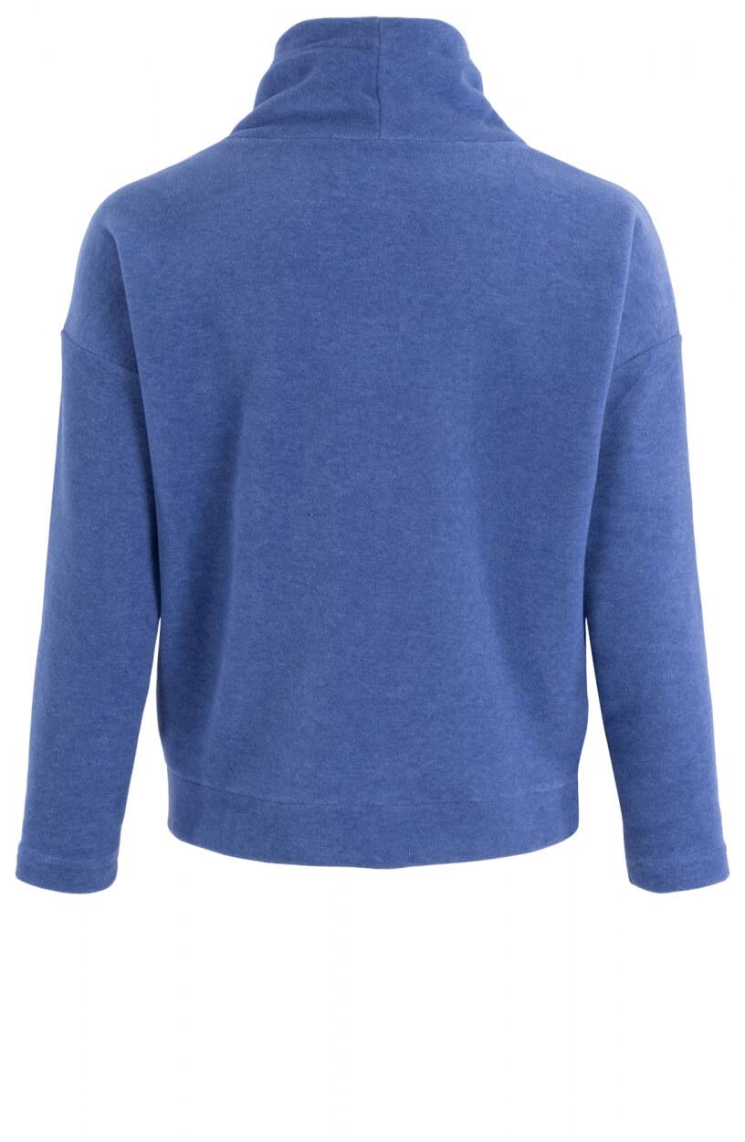Anna Blue Dames Sweater met hoge kraag Blauw