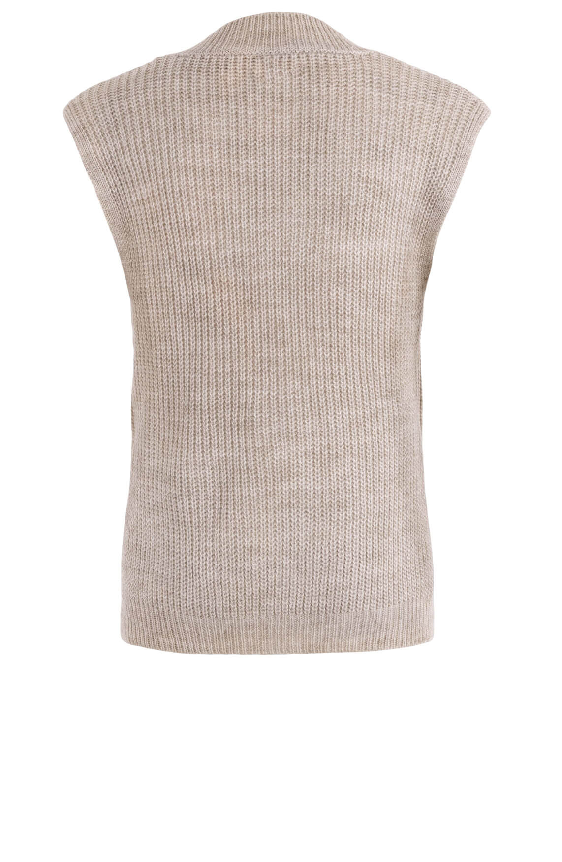 Poools Dames Mouwloze pullover Bruin