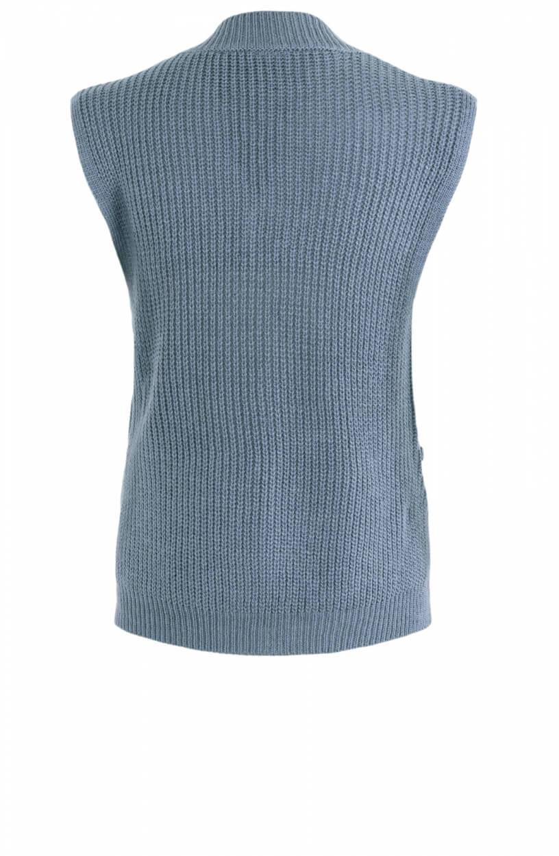Poools Dames Mouwloze pullover Blauw
