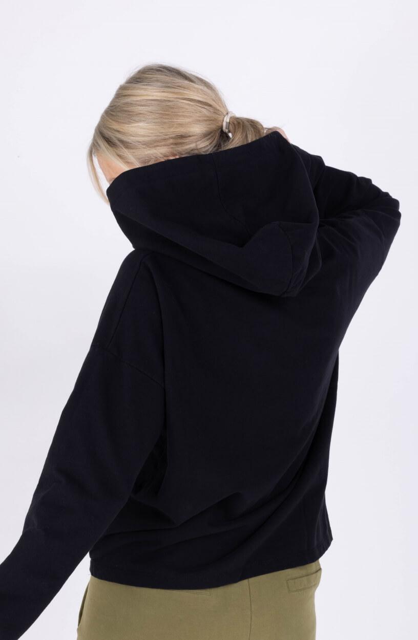 Penn & Ink Dames Brooklyn hoodie Zwart