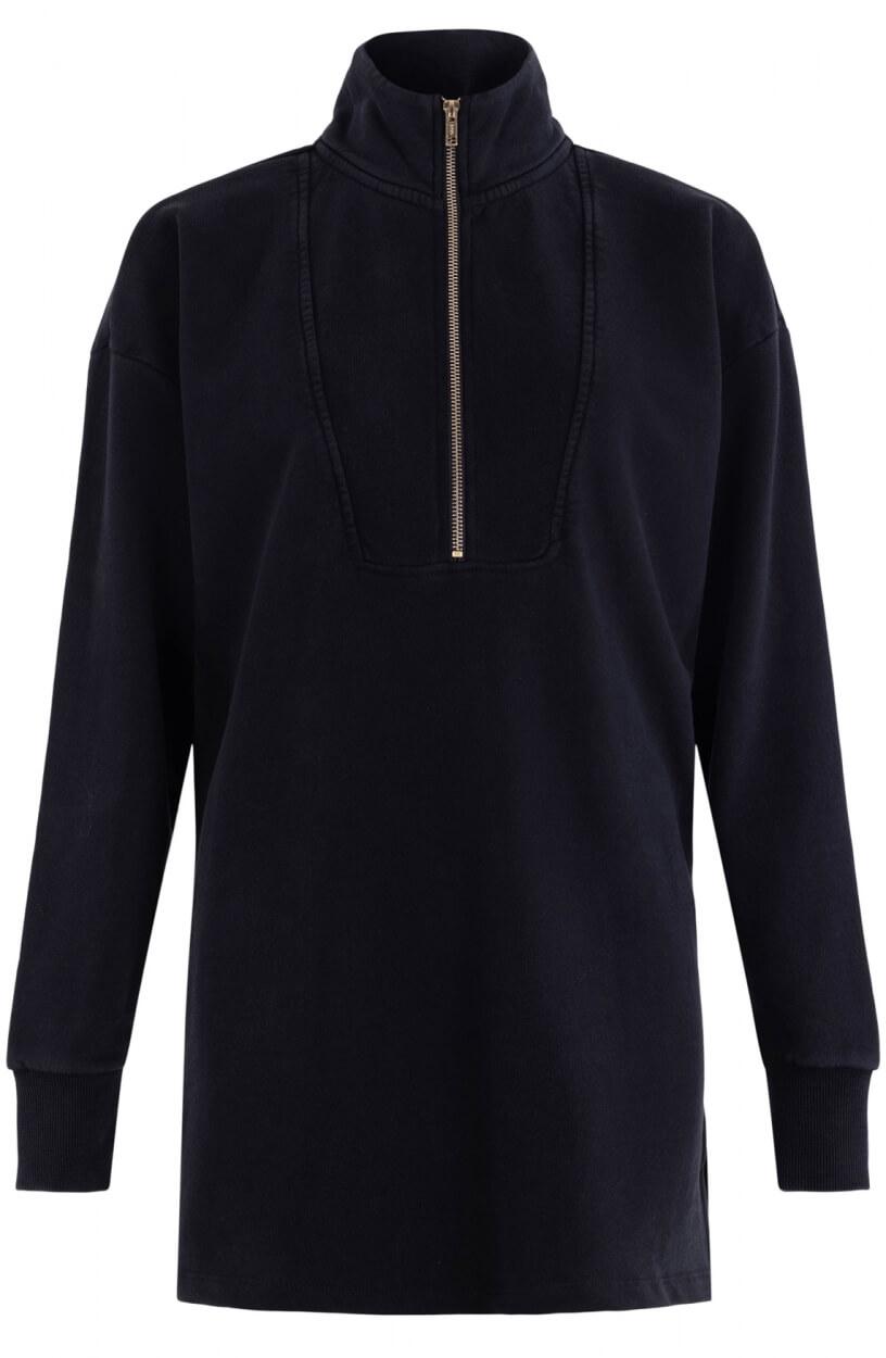 Alix The Label Dames Zipper sweater Zwart