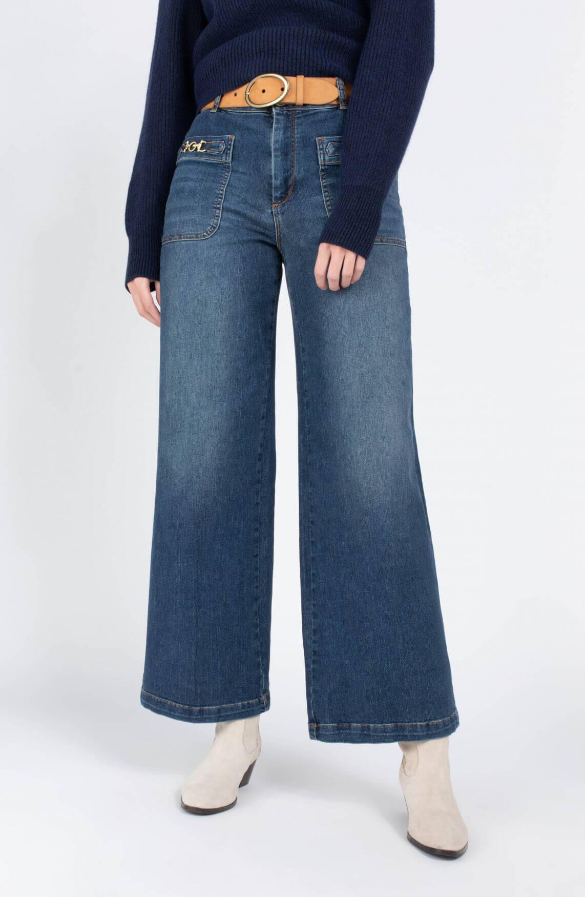 Mos Mosh Dames Colette jeans Blauw
