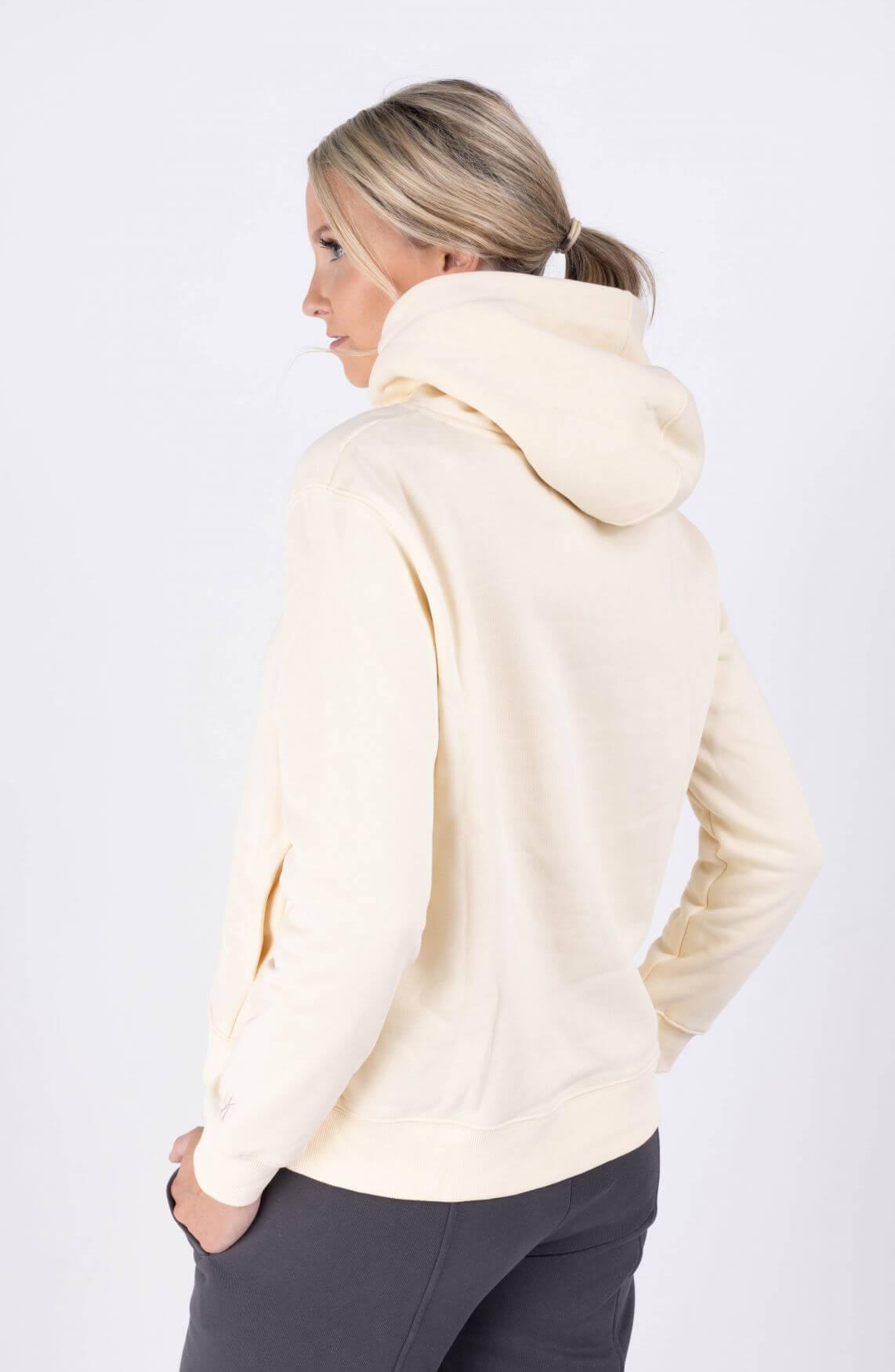 Calvin Klein Dames Hoodie met logo Ecru
