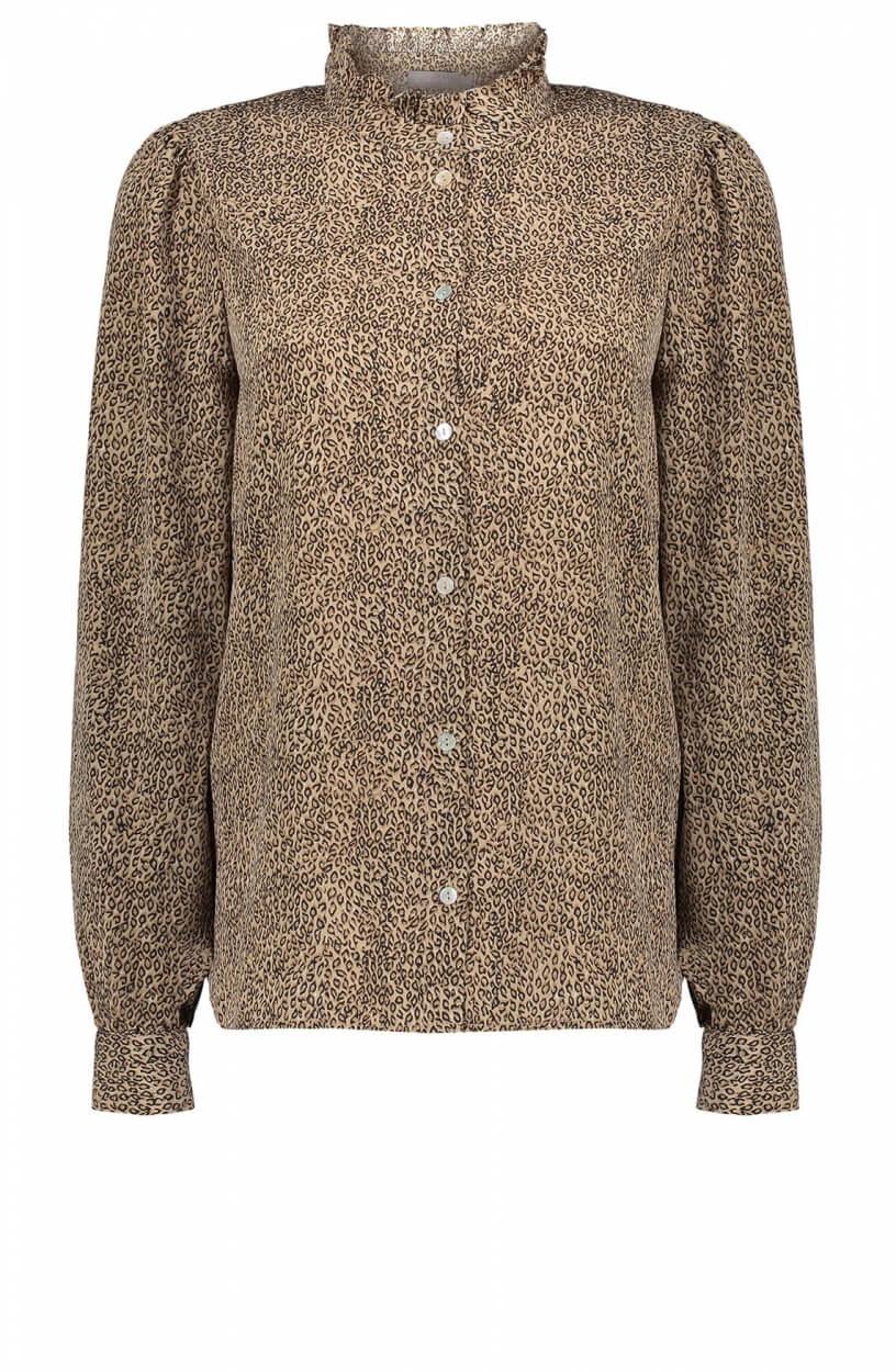 Geisha Dames Leopard blouse Bruin