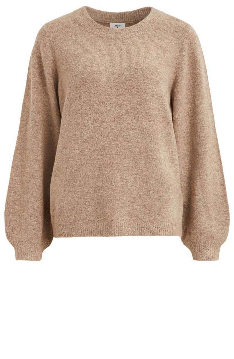 Object Dames Eve pullover Ecru