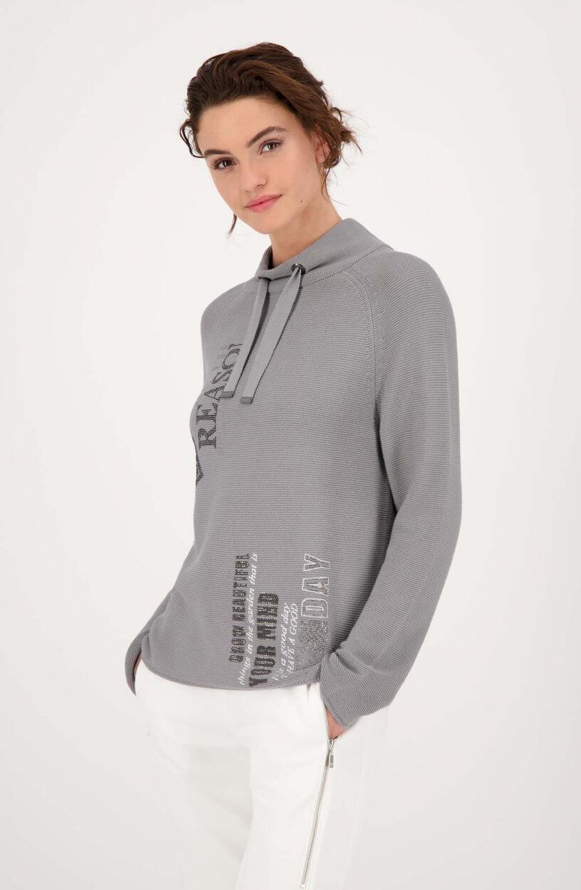 Monari Dames Pullover met strass Grijs