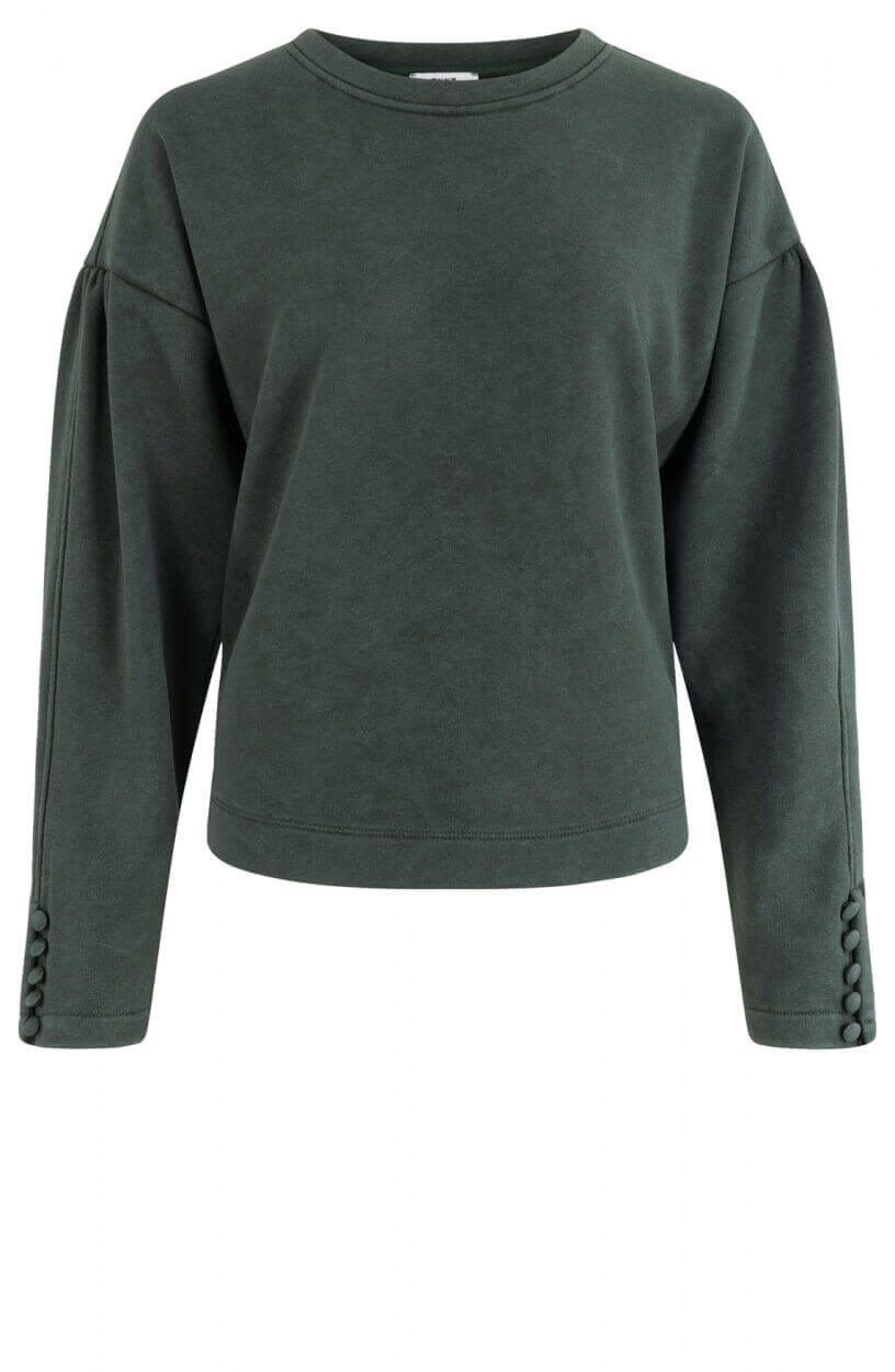 Anna Dames Washed sweater Groen