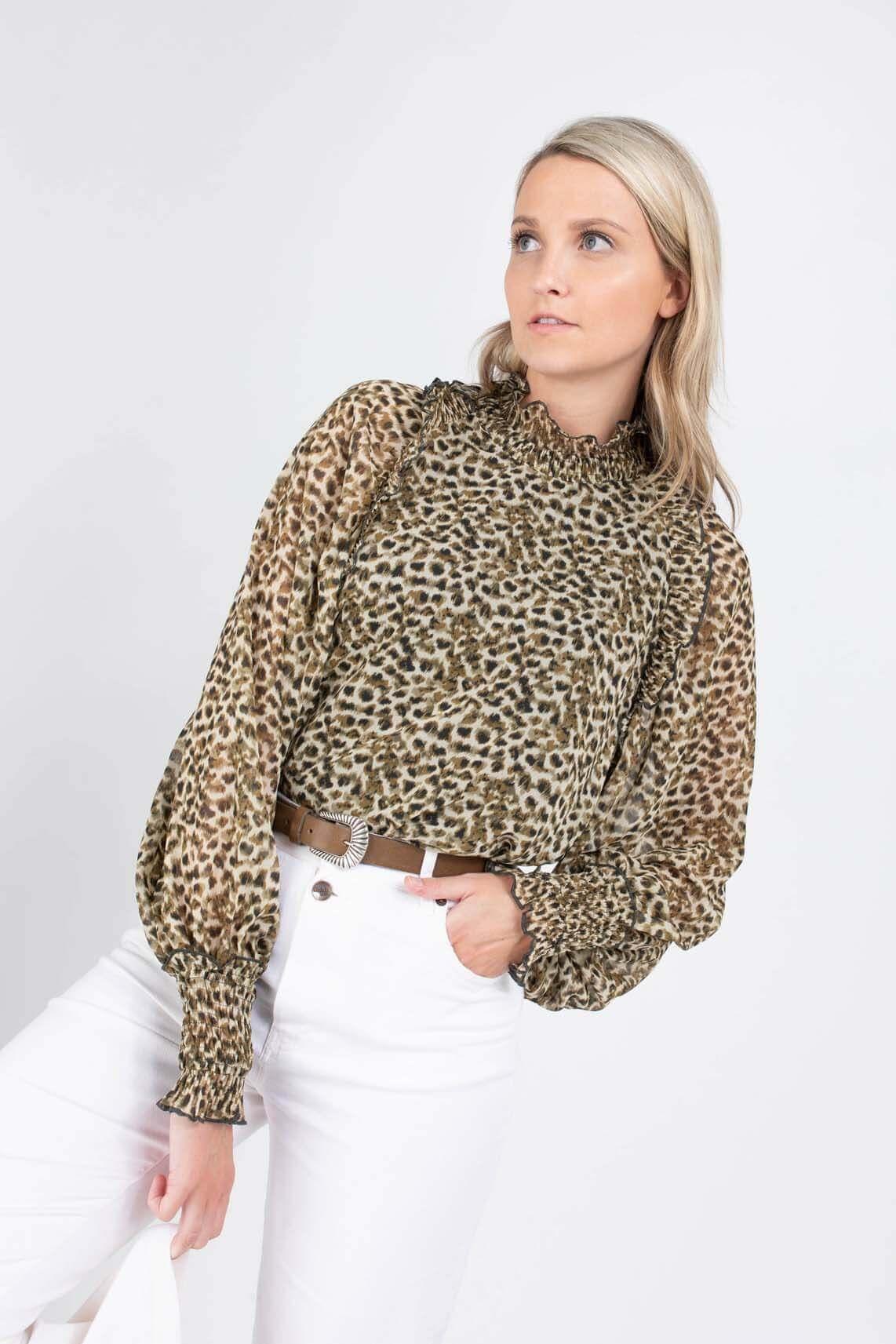 Copenhagen Muse Dames Frill blouse Groen