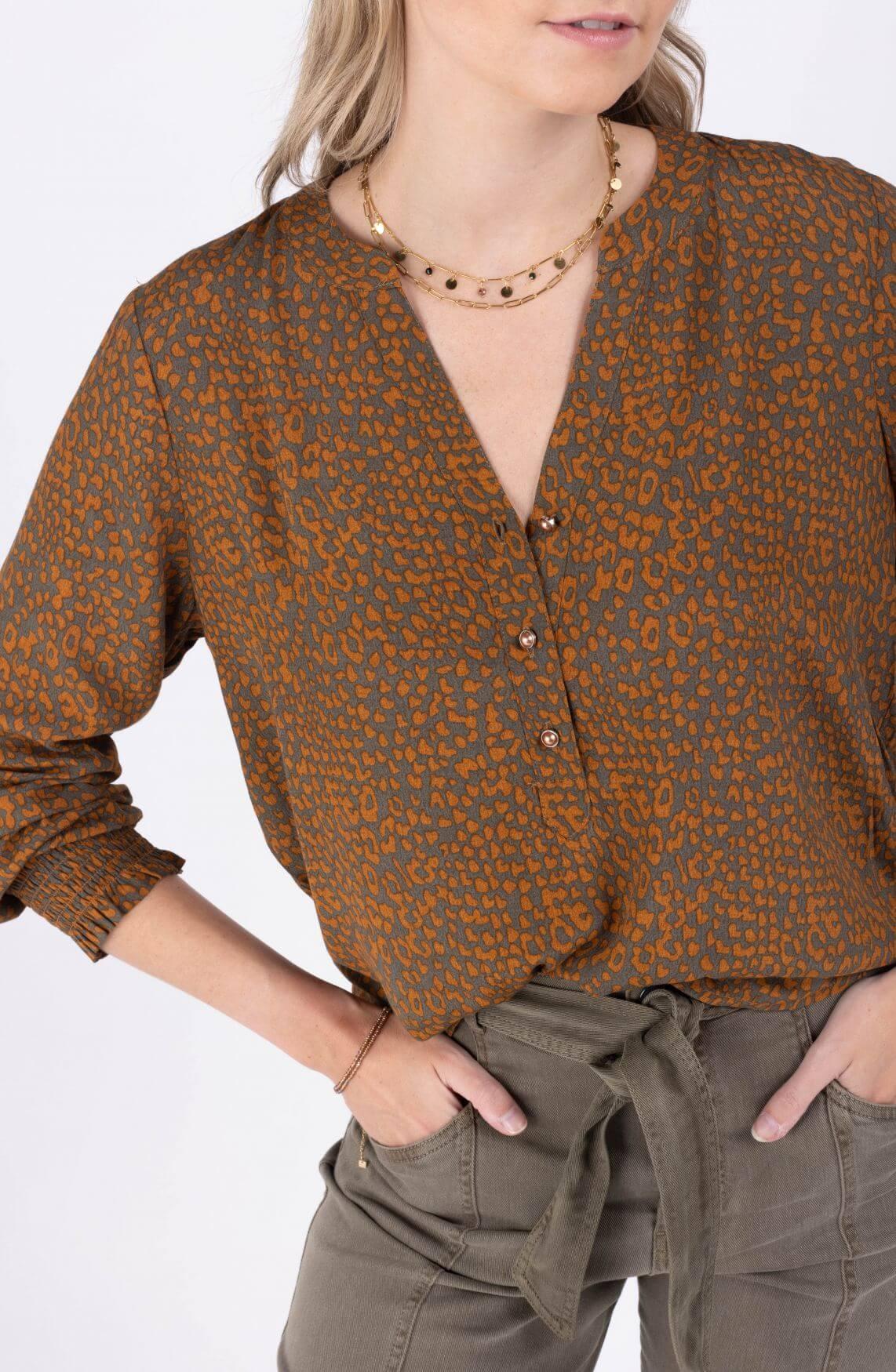 Nümph Dames Nubenta blouse Groen