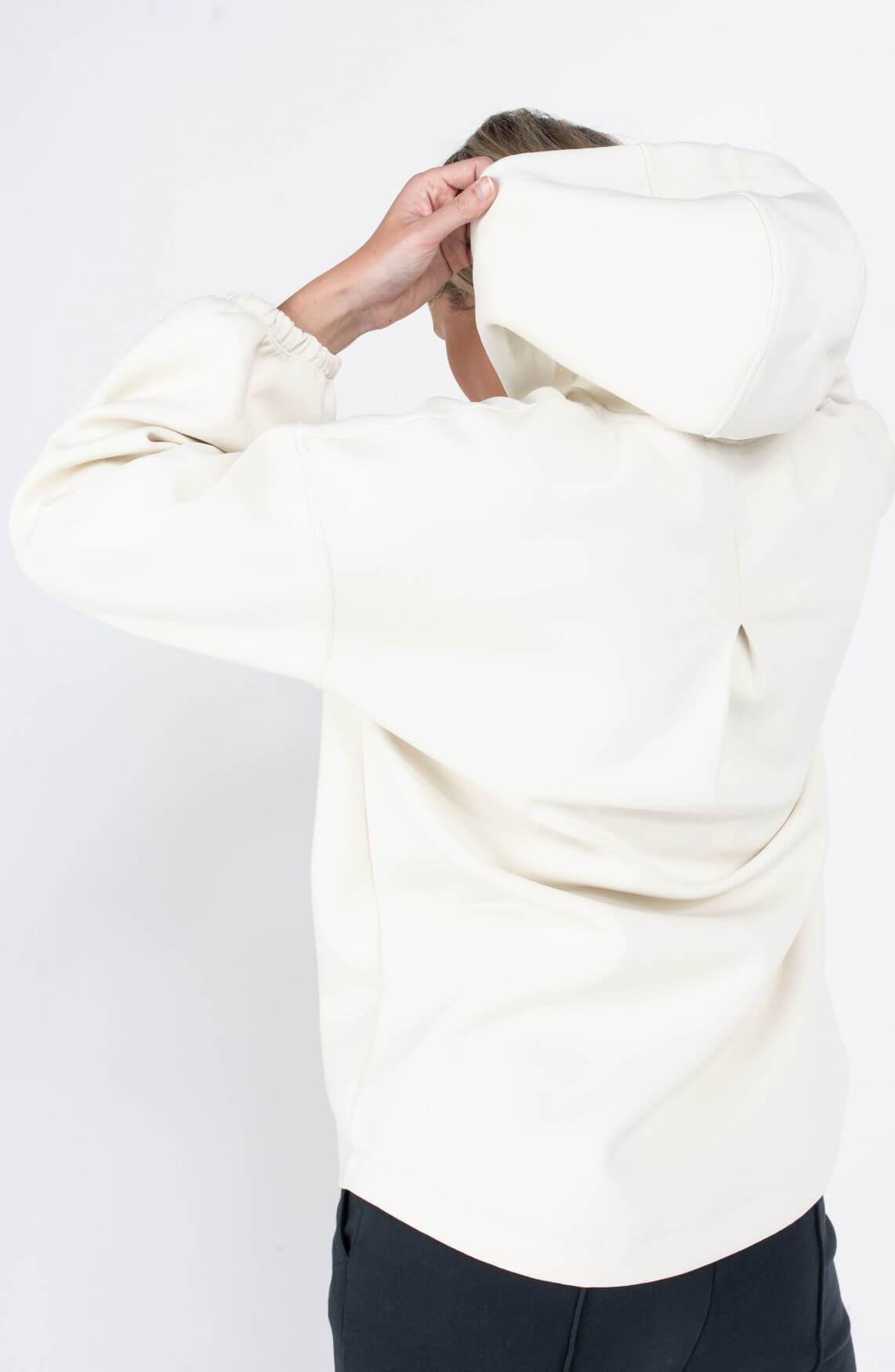 Drykorn Dames Marsina scuba hoodie Ecru