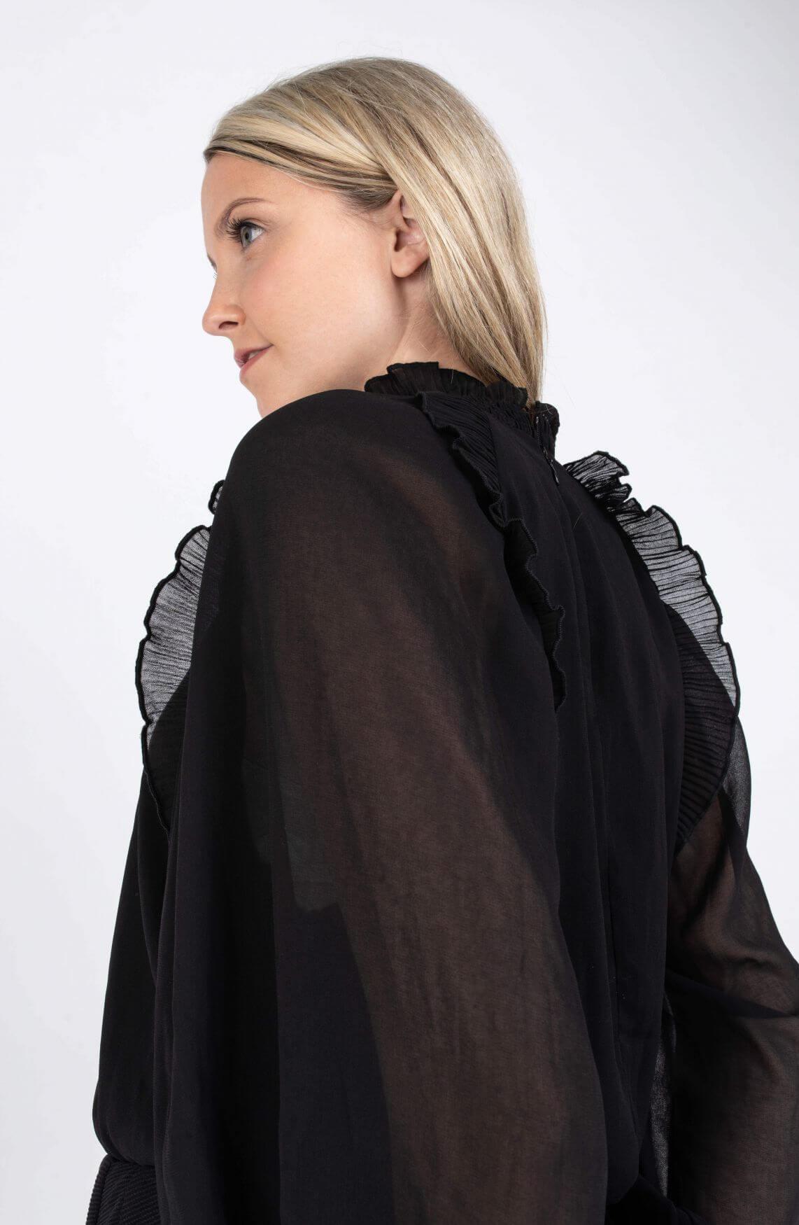 Copenhagen Muse Dames Frill blouse Zwart