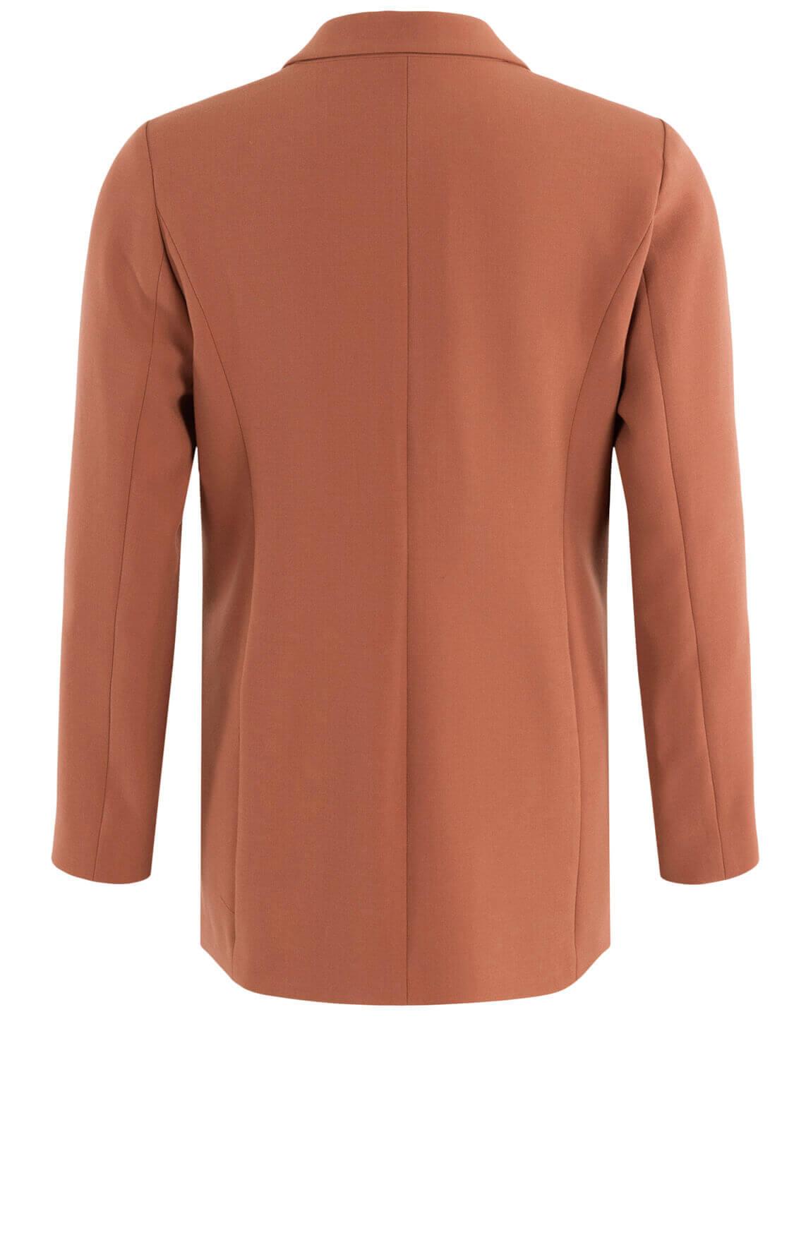 Anna Dames Double breasted blazer Oranje
