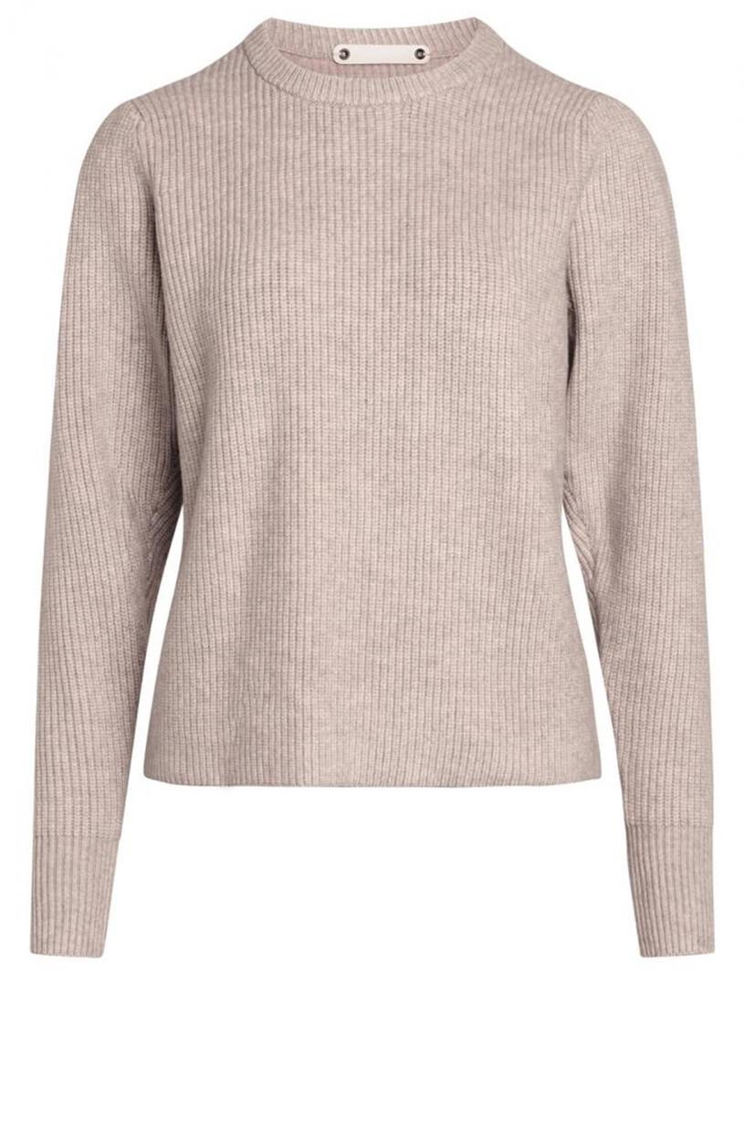 Co Couture Dames Row puff trui Bruin