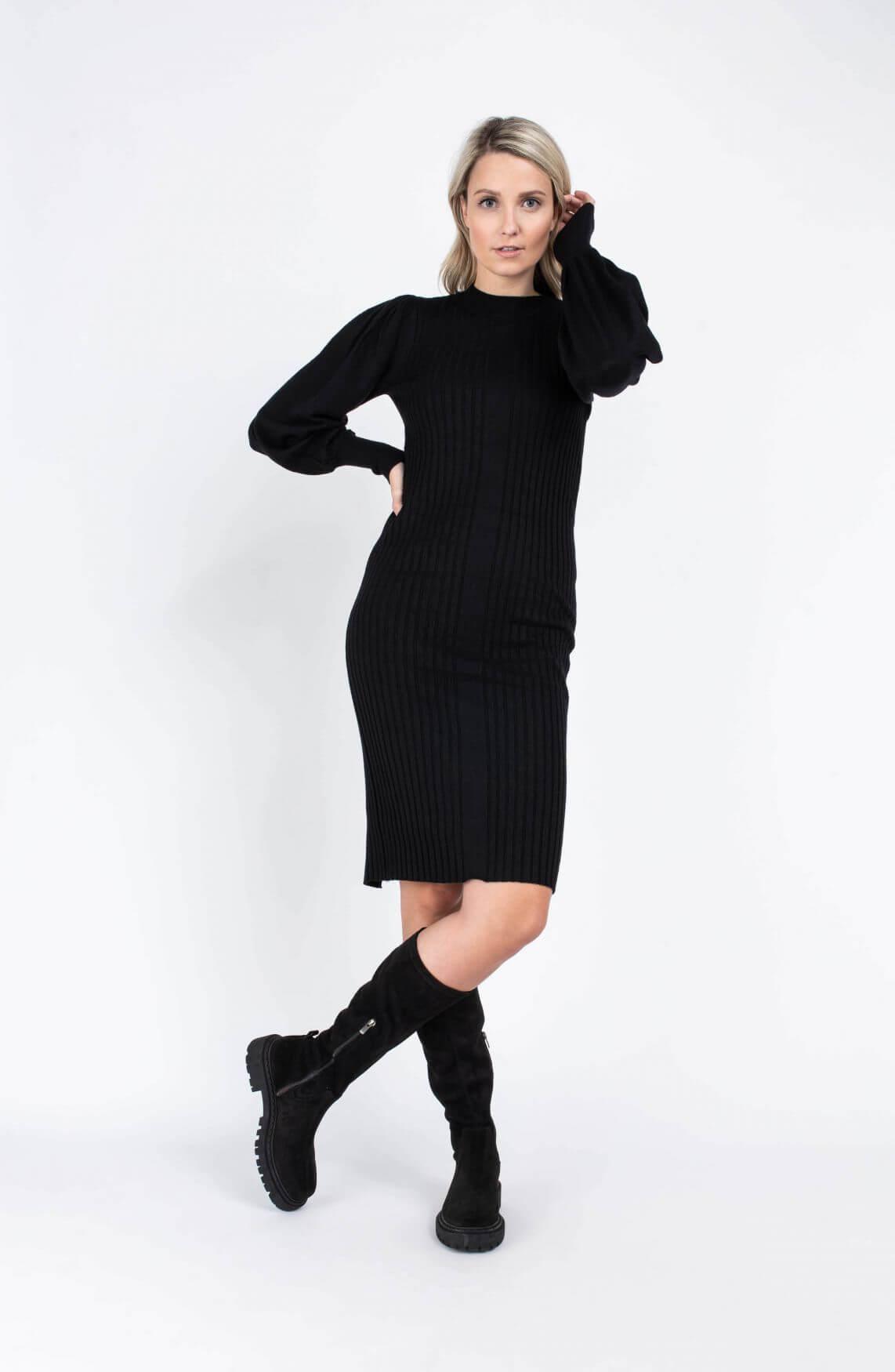 Moss Copenhagen Dames Rachelle jurk Zwart