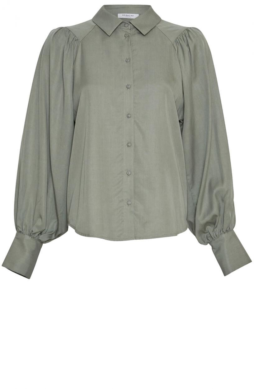 Moss Copenhagen Dames Alivia blouse Groen