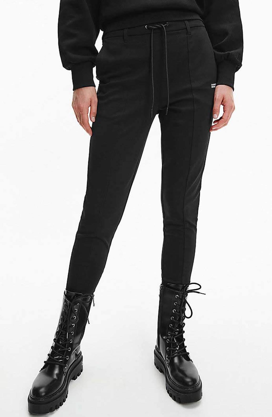 Calvin Klein Dames Logo pant Zwart