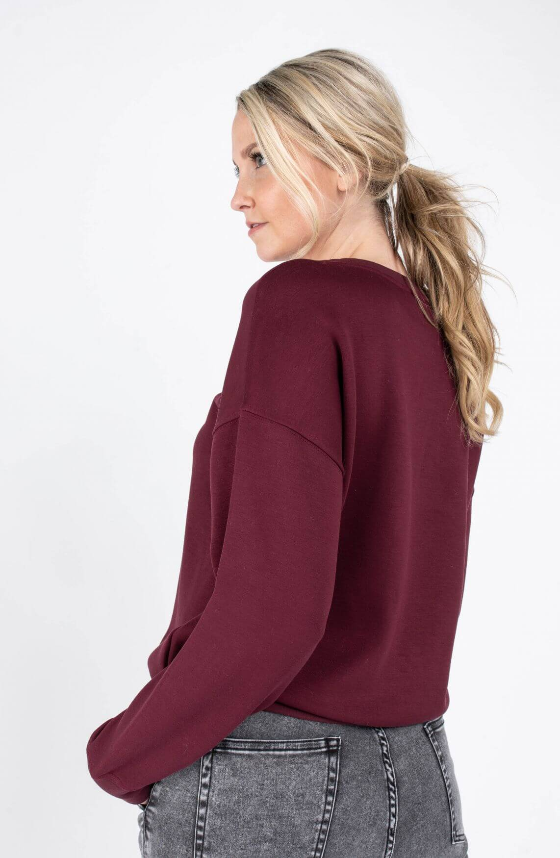 Moss Copenhagen Dames Ima sweater Rood