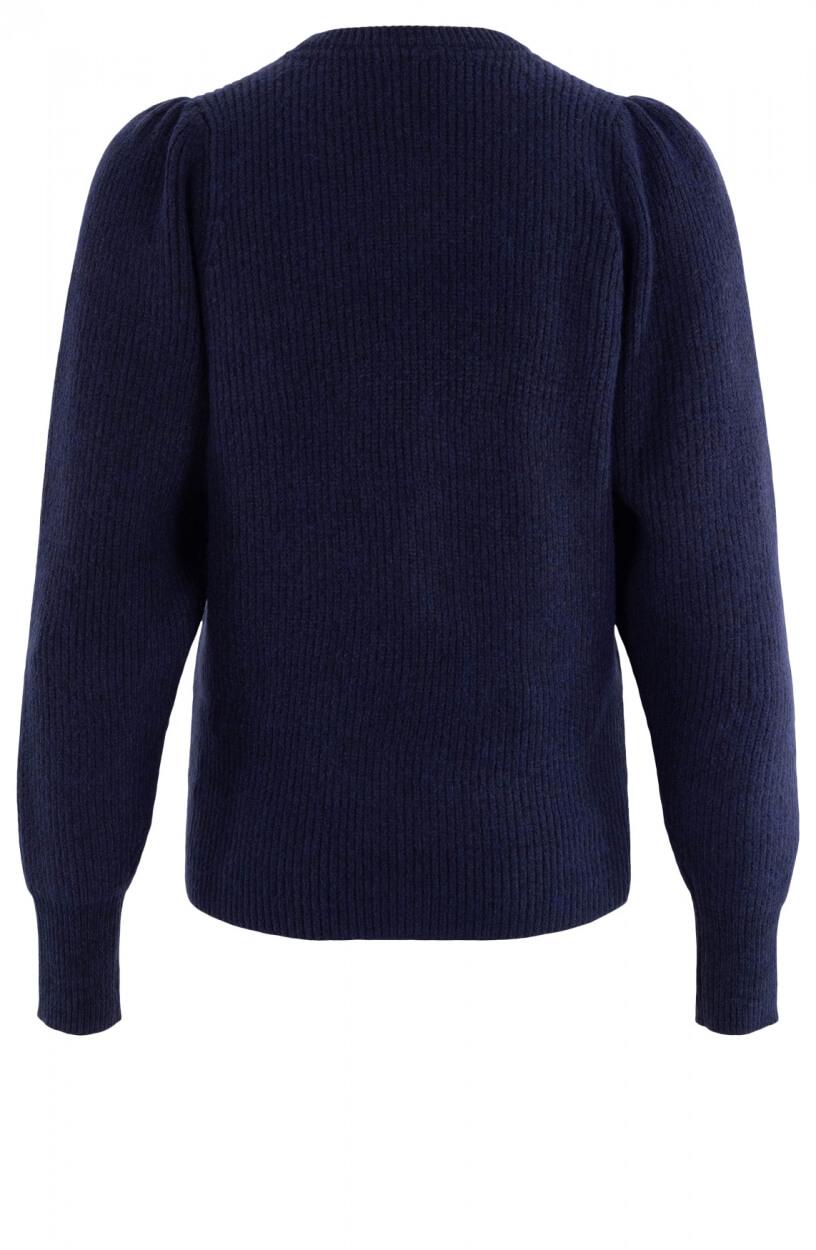 Co Couture Dames Row puff trui Blauw