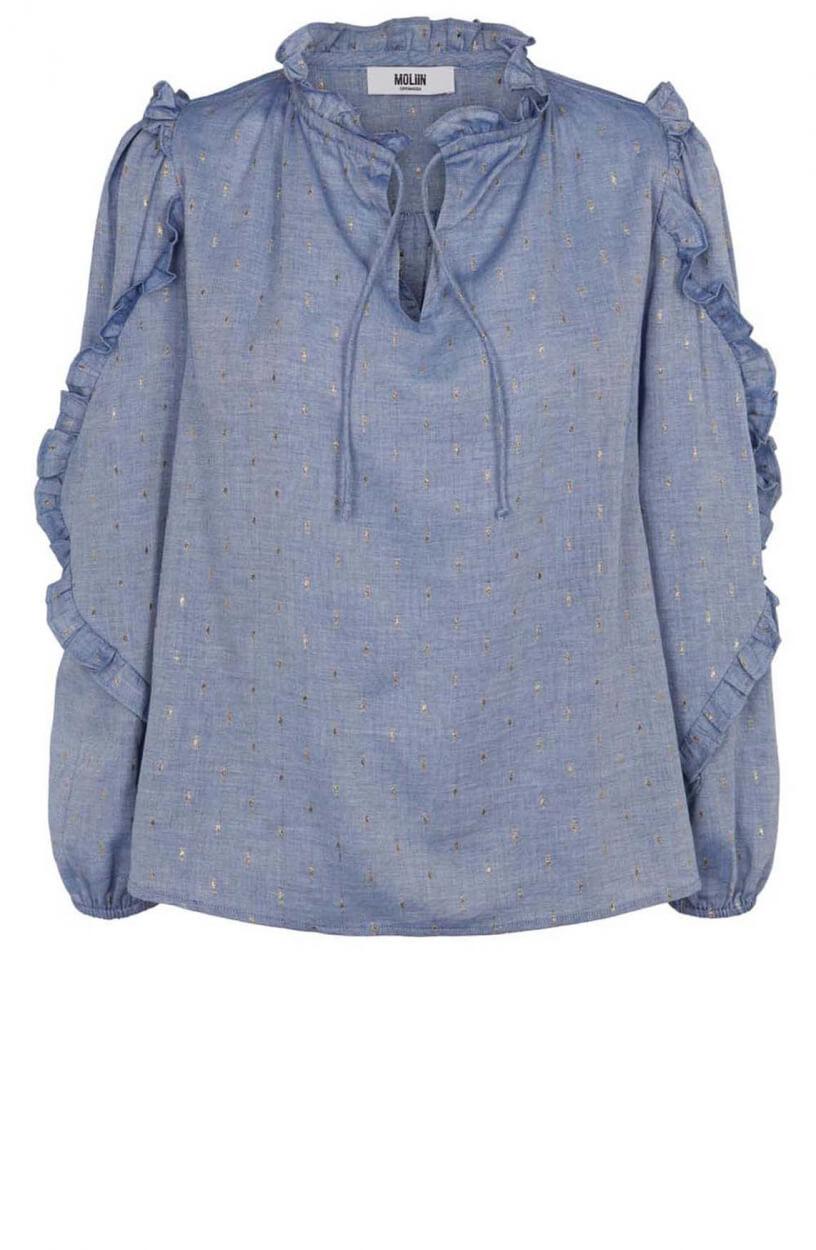 Moliin Copenhagen Dames Taylor blouse Blauw