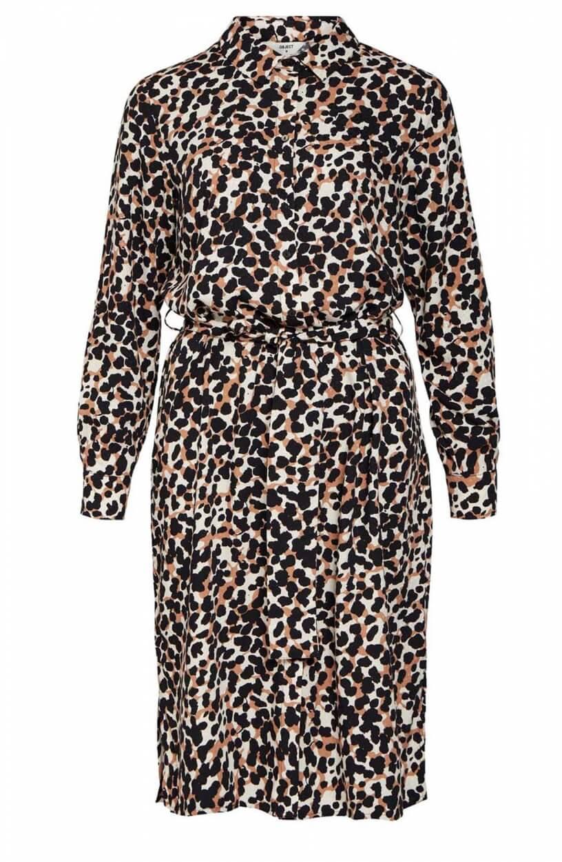 Object Dames Pamala jurk Bruin