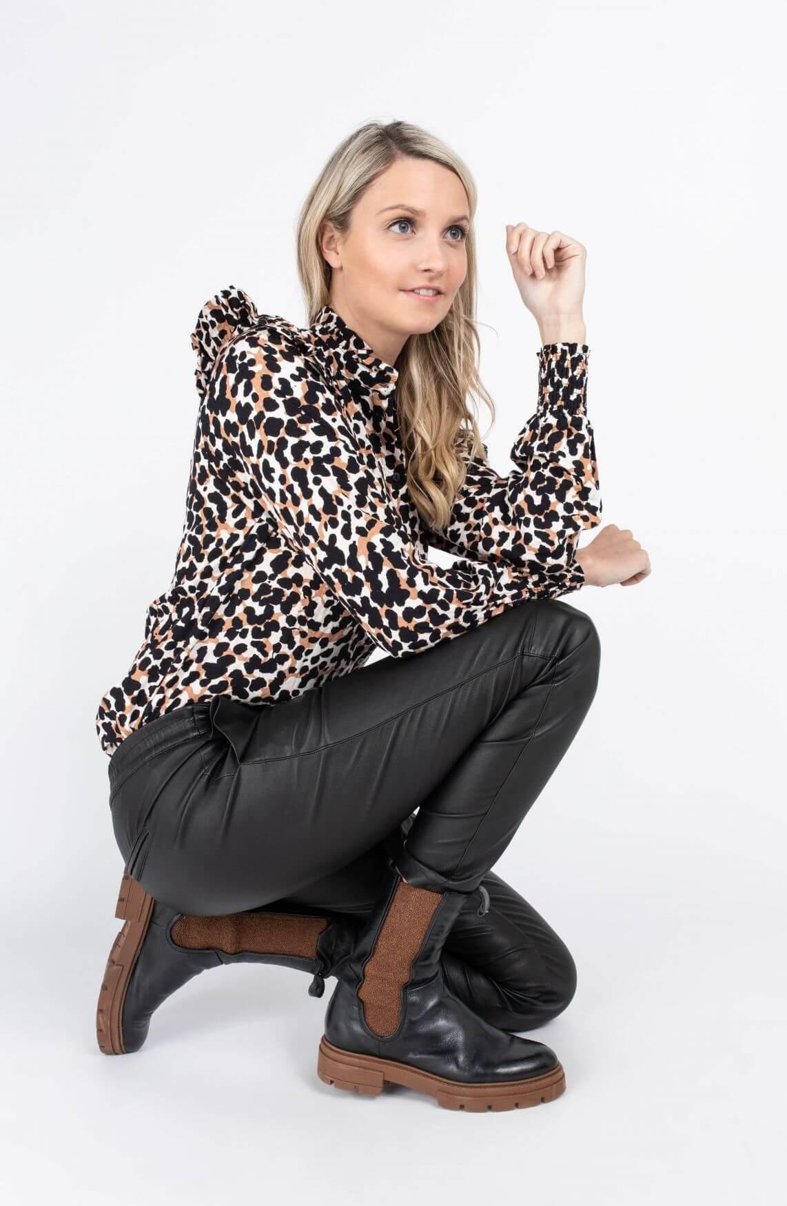 Object Dames Pamala blouse Bruin