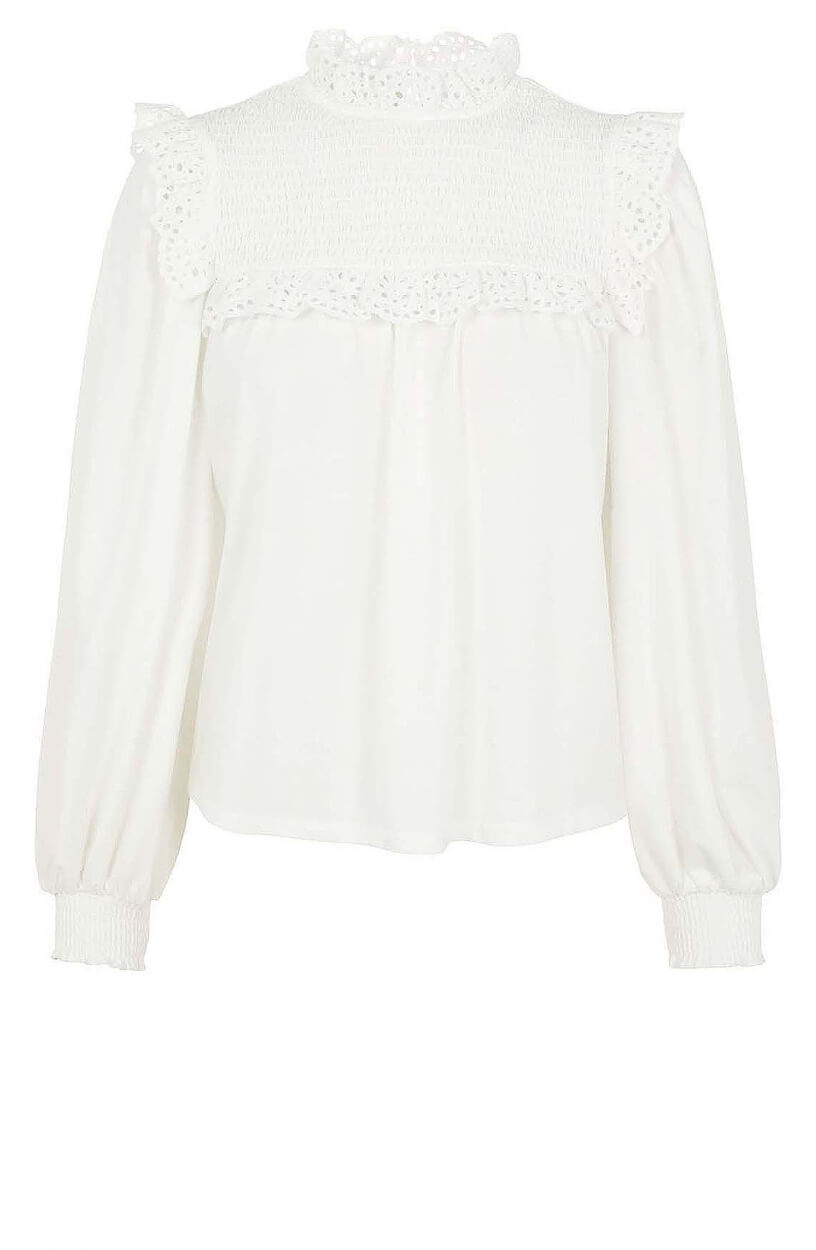 Object Dames Maria blouse Wit