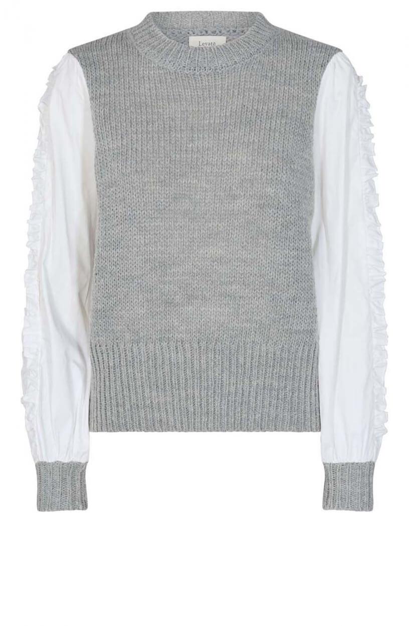 Levete Room Dames Ofia pullover Grijs