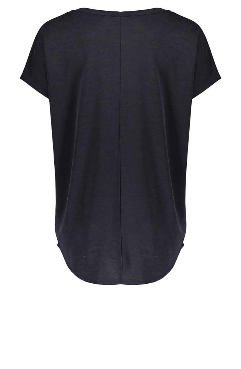Geisha Dames Shirt met teksprint Grijs