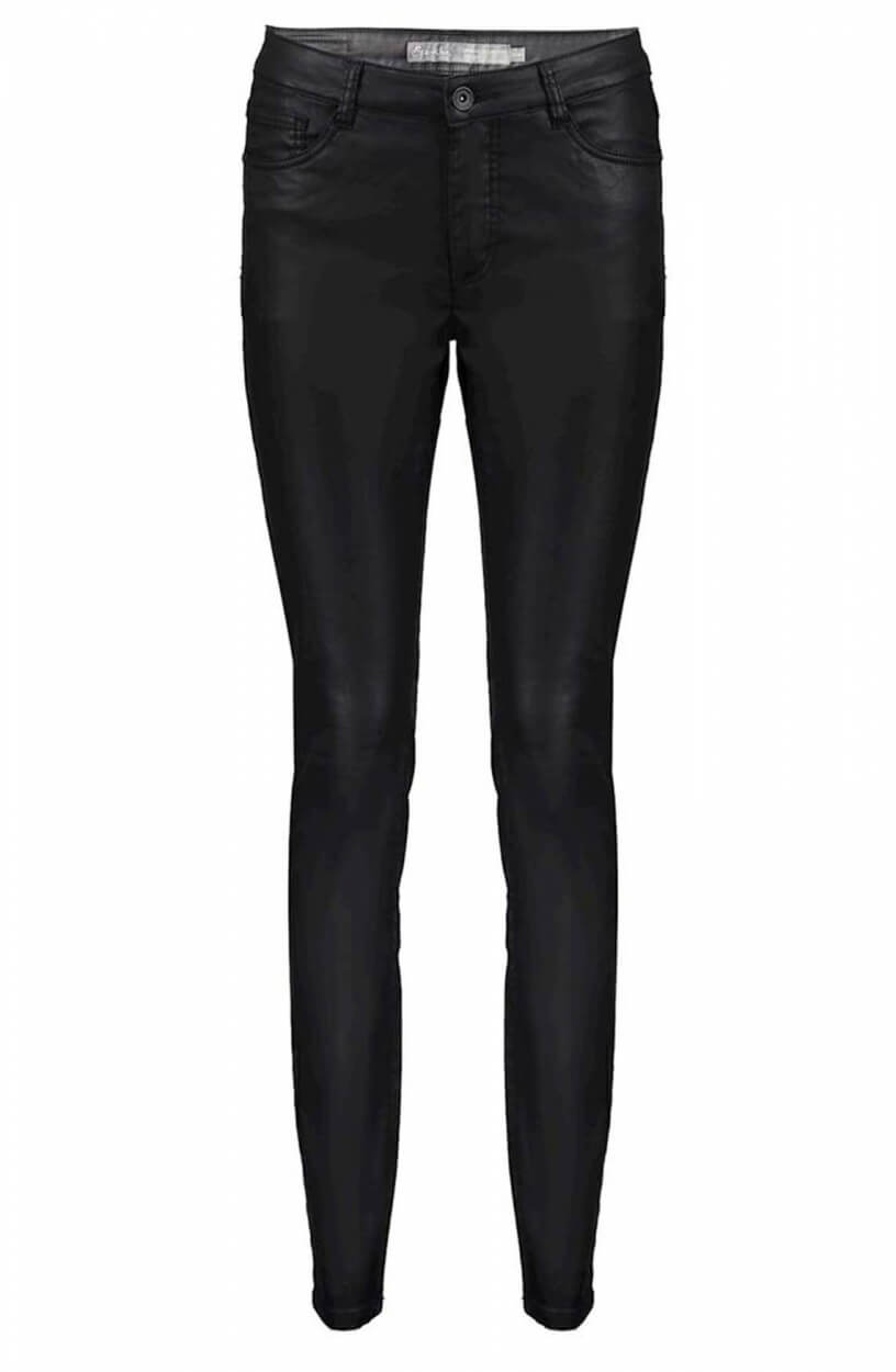 Geisha Dames Coated broek Zwart