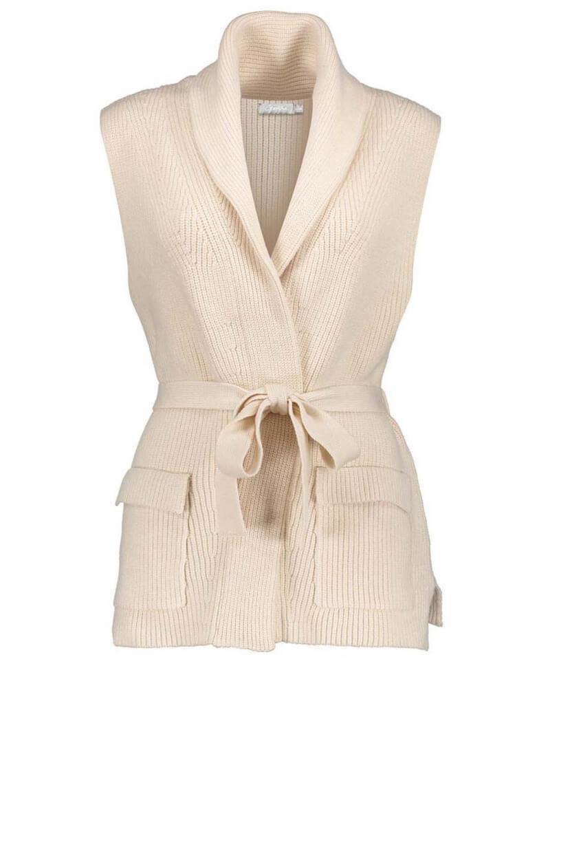 Geisha Dames Mouwloos vest Wit