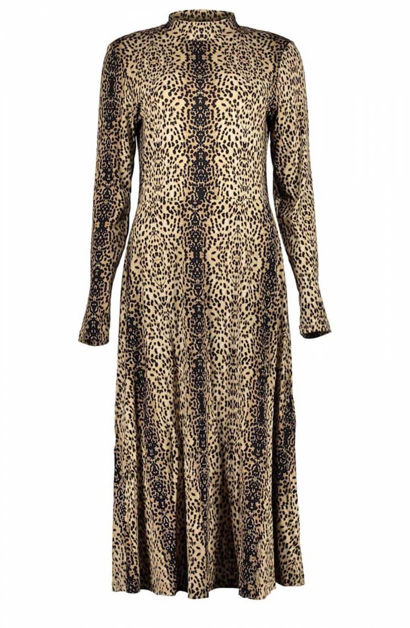 Geisha Dames Maxi jurk Bruin