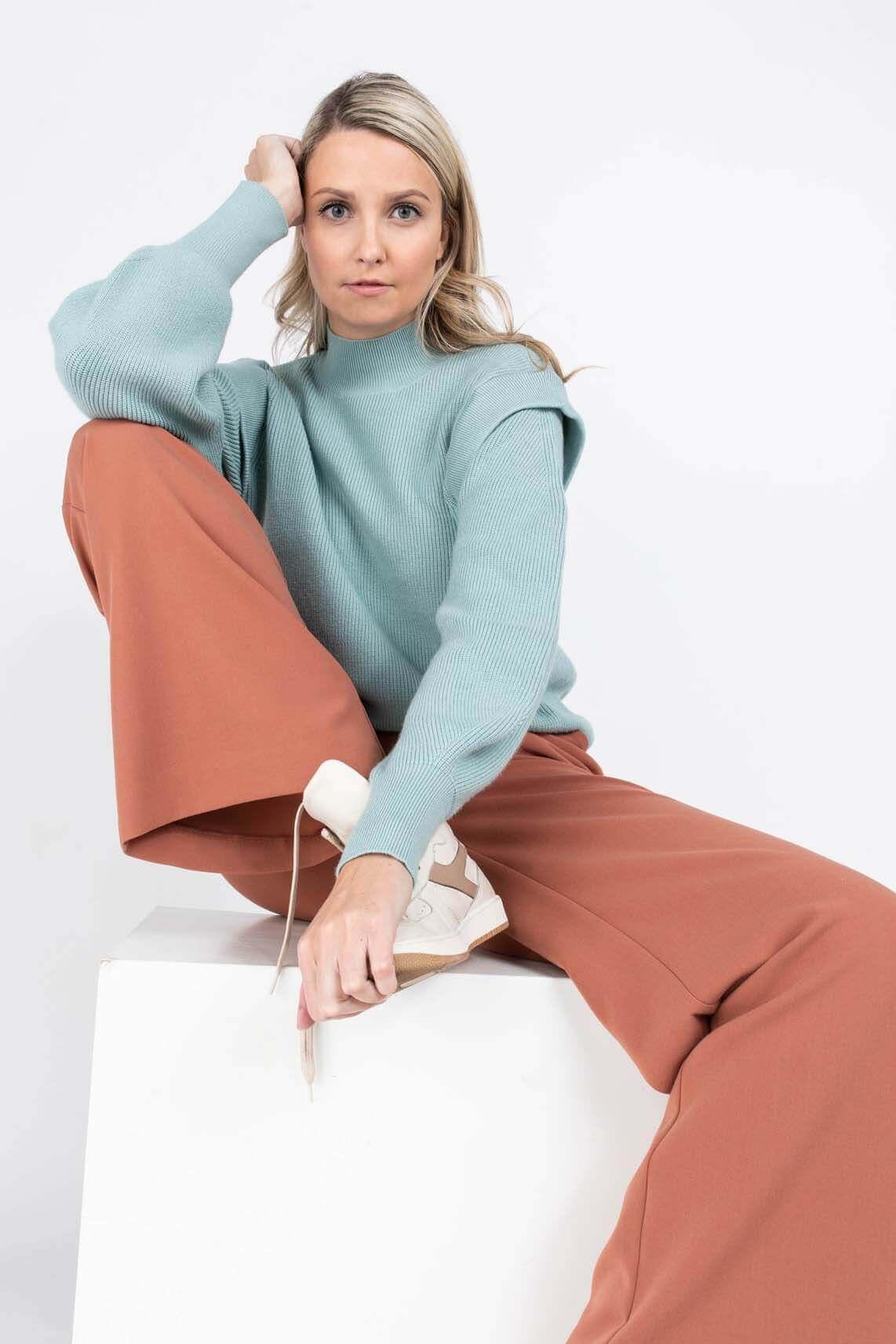 Moss Copenhagen Dames Filine Jilli pullover Groen