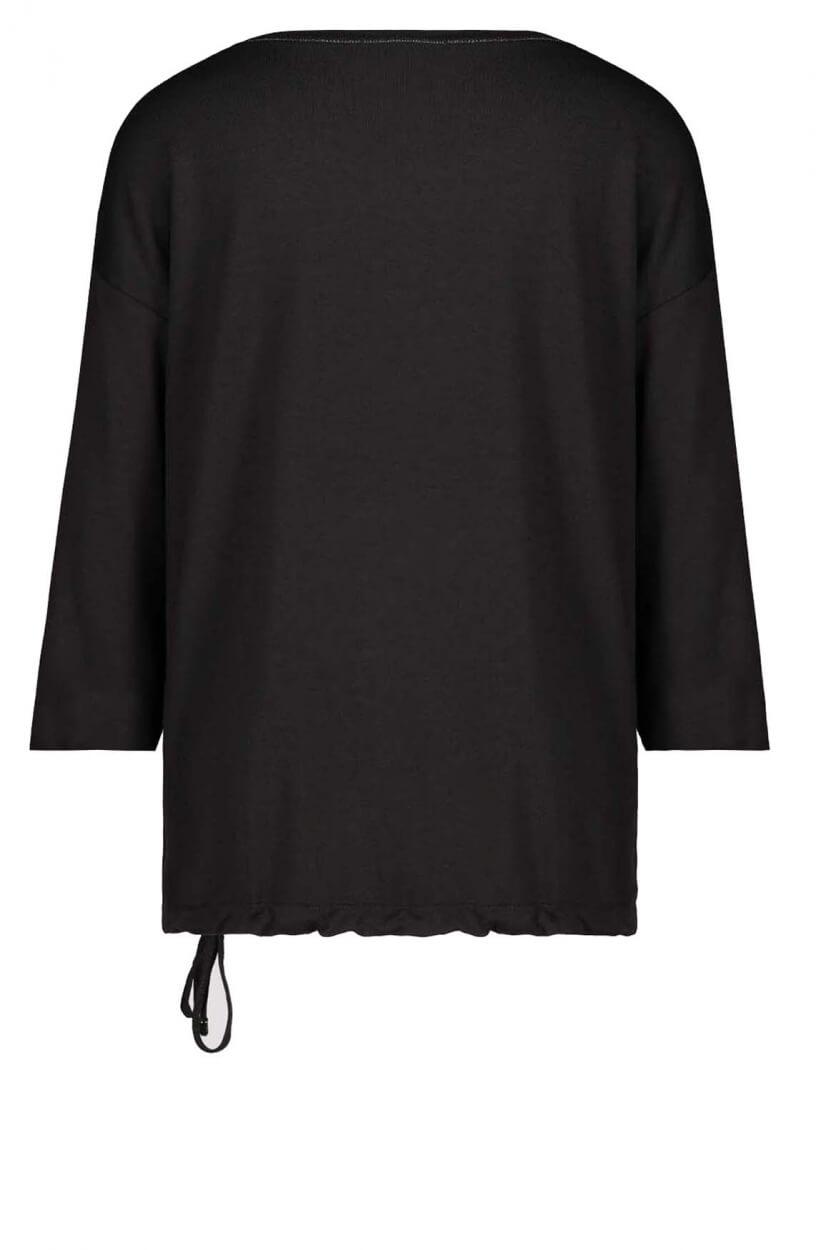 Monari Dames Shirt met strass Zwart