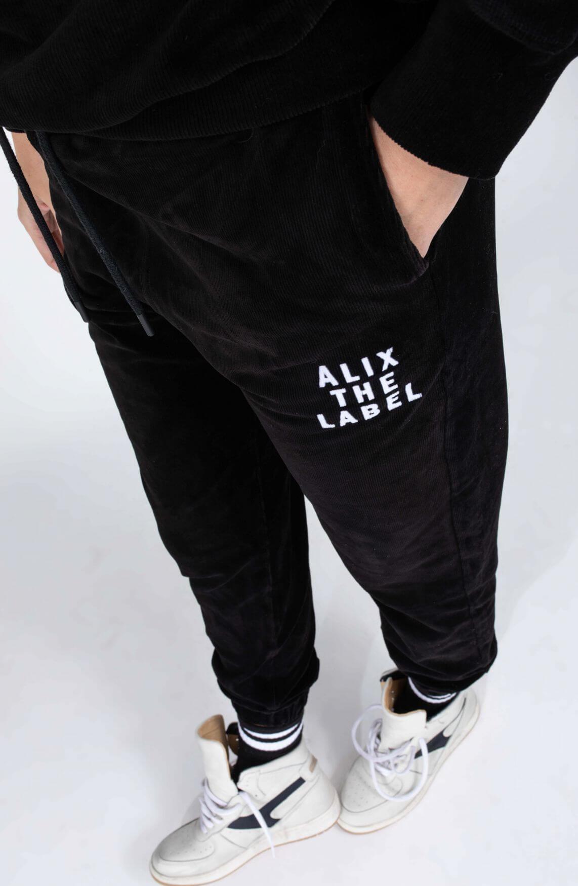 Alix The Label Dames Jogger met logo Zwart
