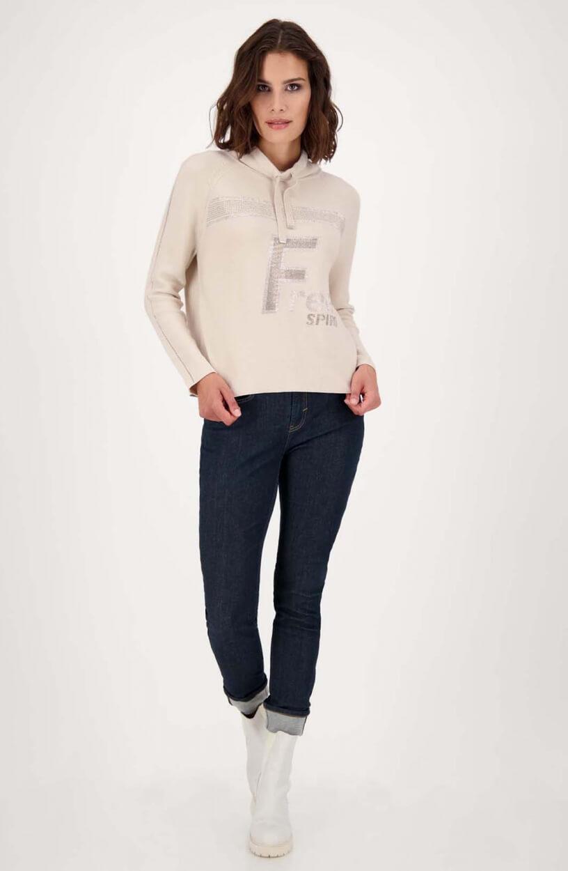 Monari Dames Sweater met strass Ecru