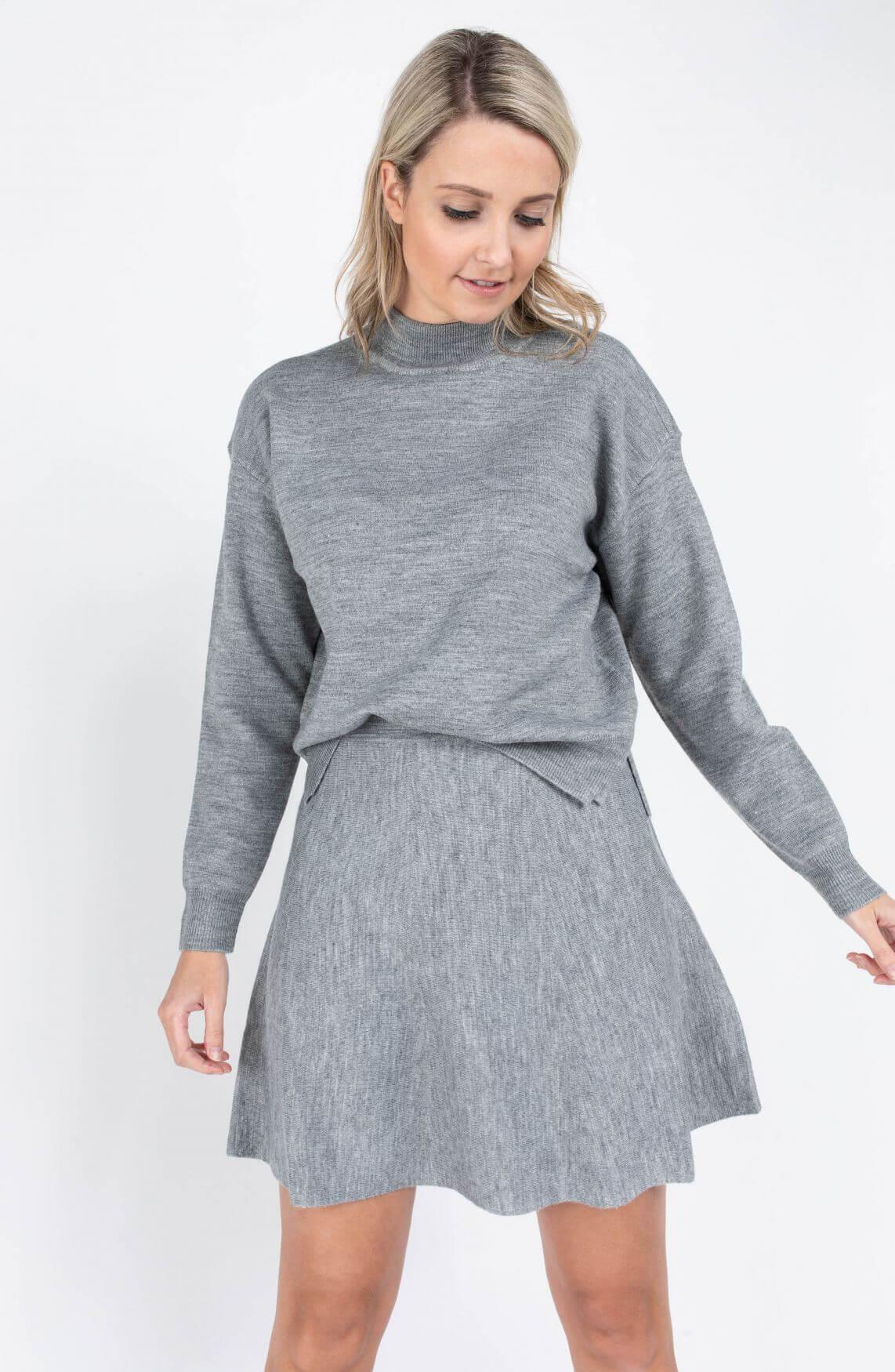 Nümph Dames Nupillywooli pullover Grijs