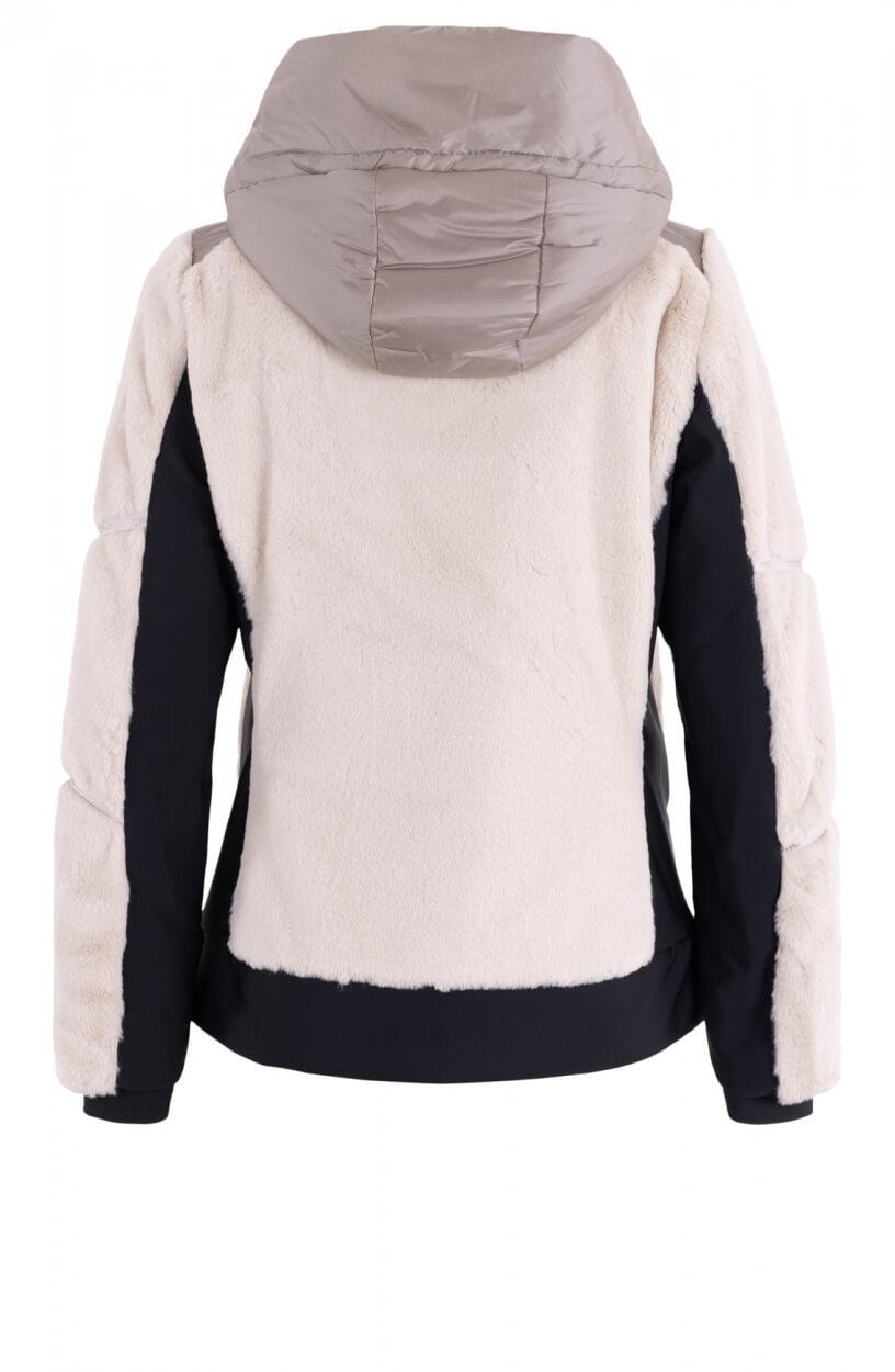 Creenstone Dames Faux fur combi jacket Bruin