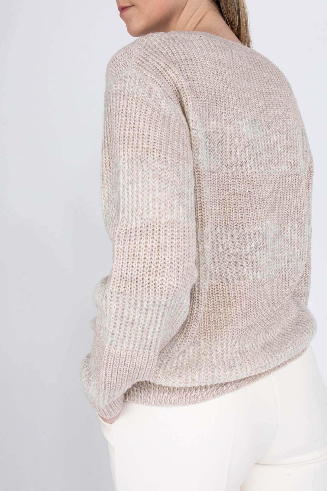 Geisha Dames Pullover met lurex Bruin