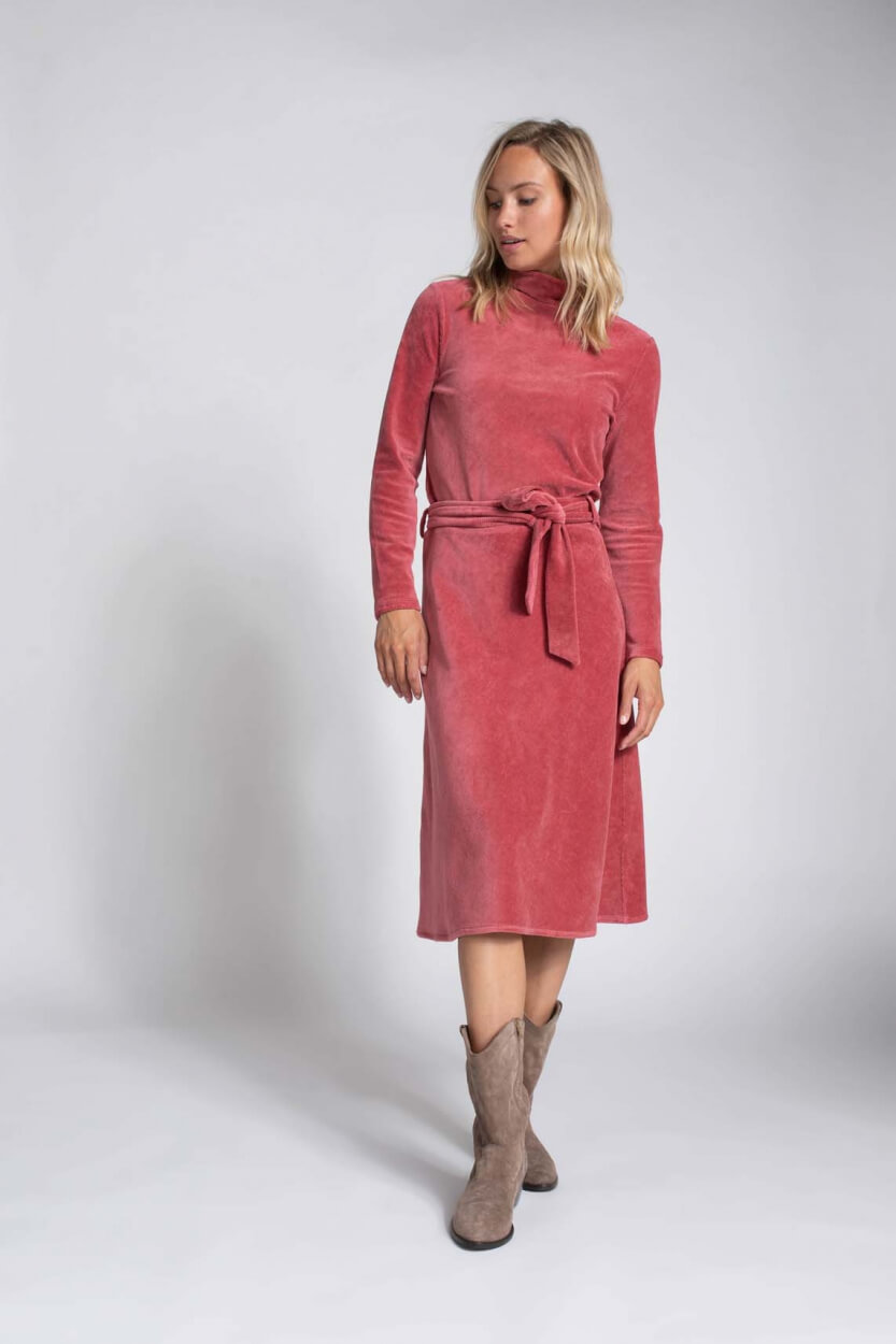 Anna Dames Corduroy sweater Roze