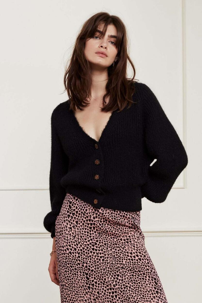 Fabienne Chapot Dames Starry cardigan Zwart
