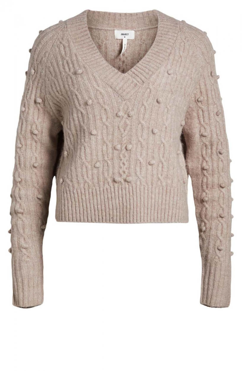 Object Dames Caton pullover Grijs
