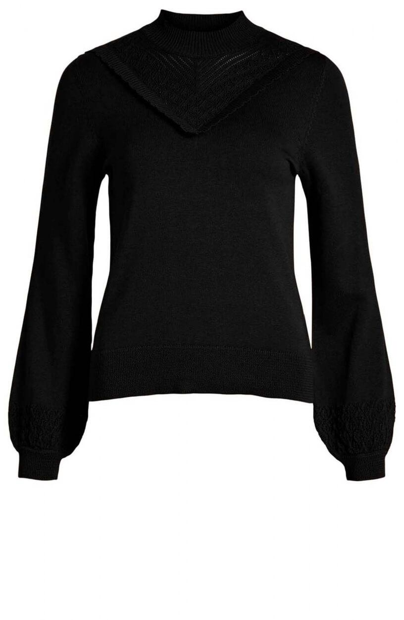 Object Dames Sharon pullover Zwart