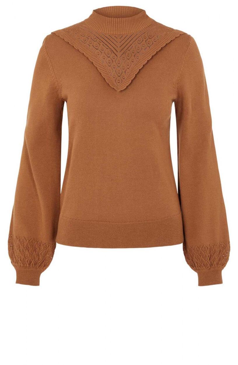 Object Dames Sharon pullover Bruin